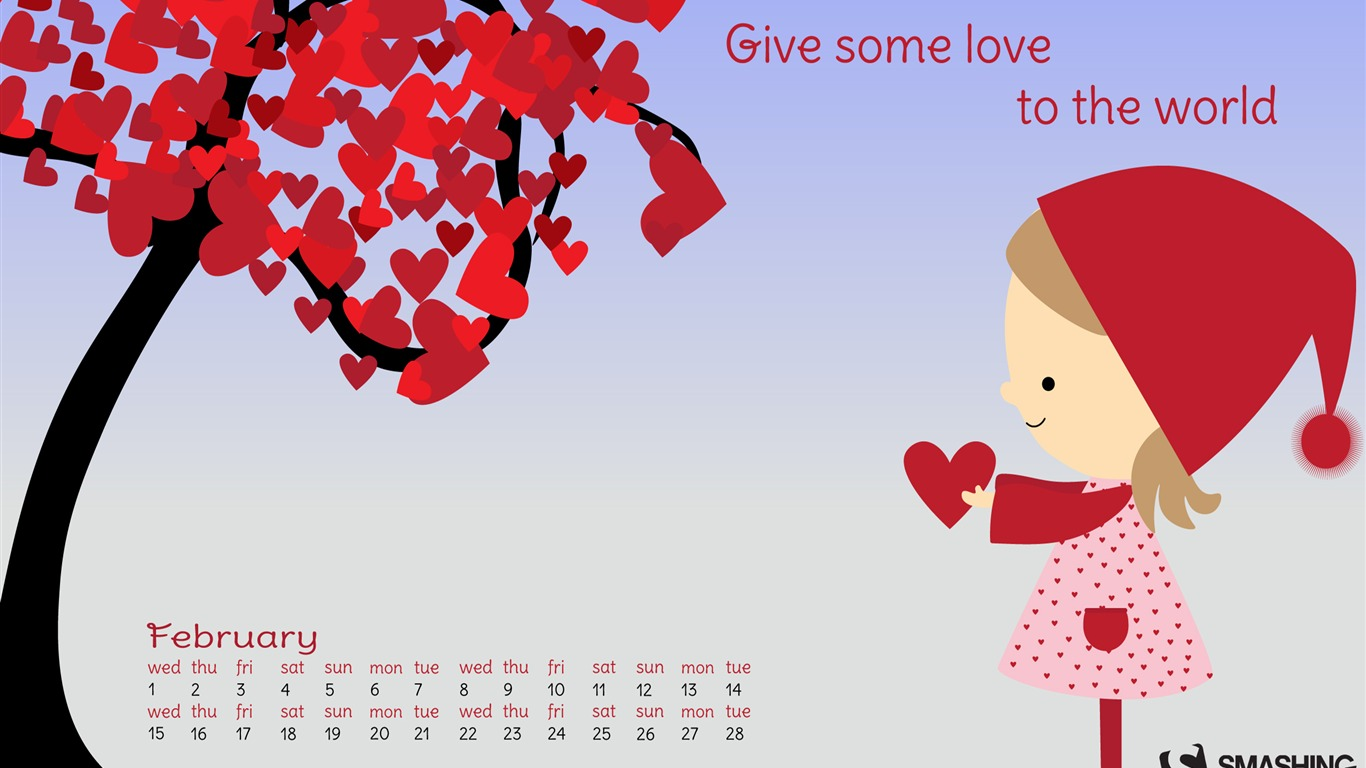 Give_The_World_Some_Love-February_2017_Calendar_Wallpaper