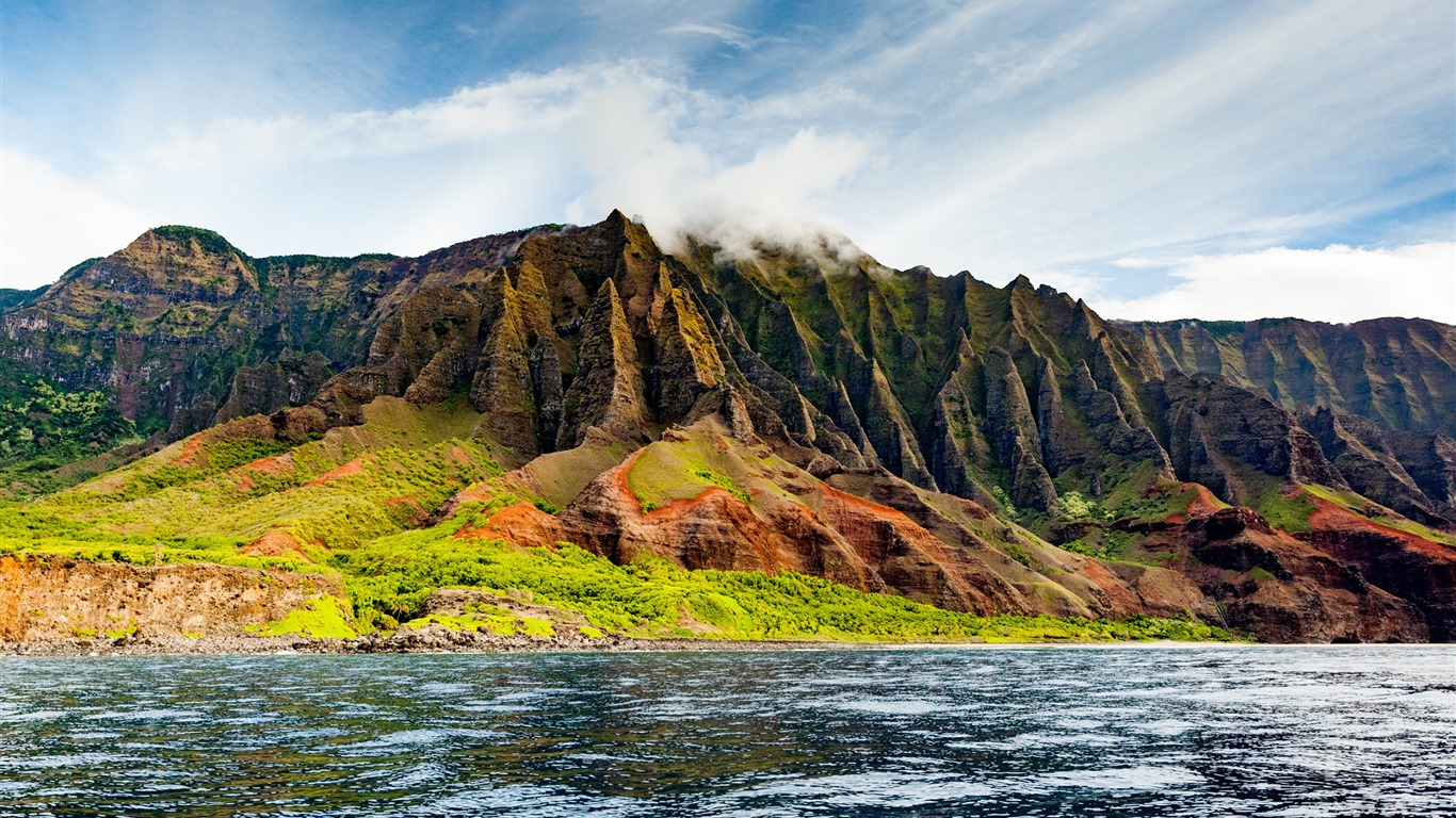 The_na_pali_coast_from_the_ocean-Scenery_HD_Wallpaper