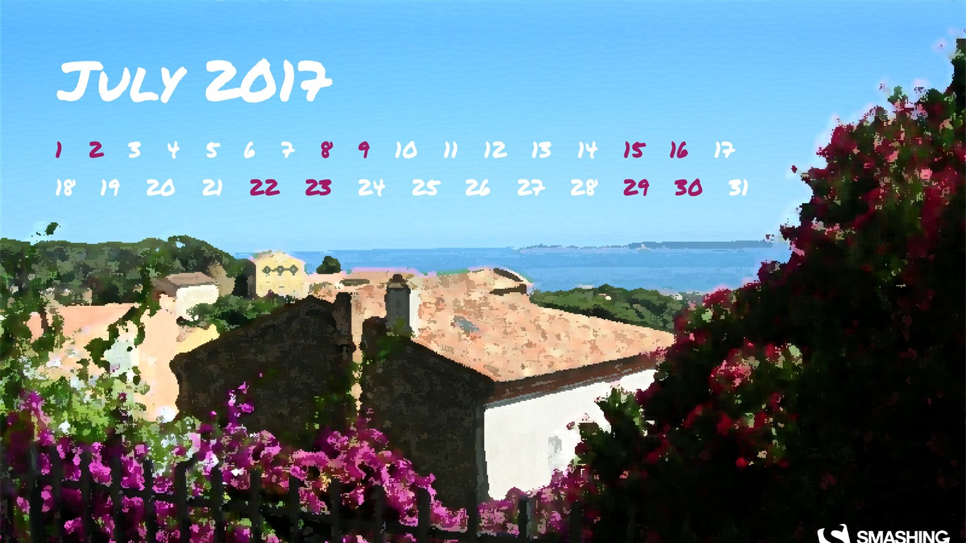 The_Sunny_South-July_2017_Calendar_Wallpaper