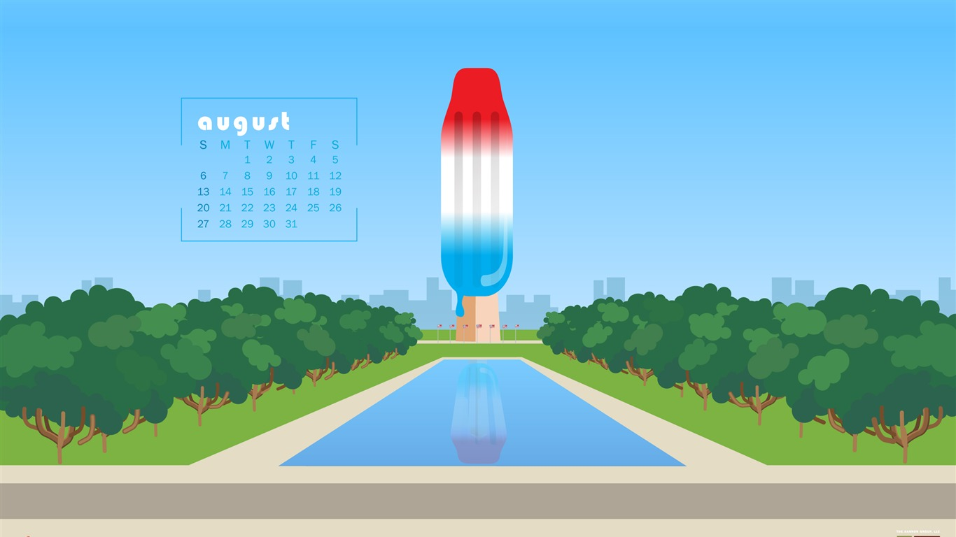 DC_Is_Melting_Stay_Cool-August_2017_Calendar_Wallpaper