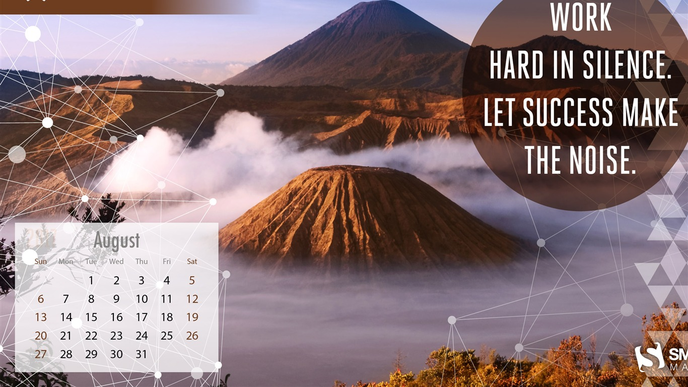 Let_Success_Make_The_Noise-August_2017_Calendar_Wallpaper