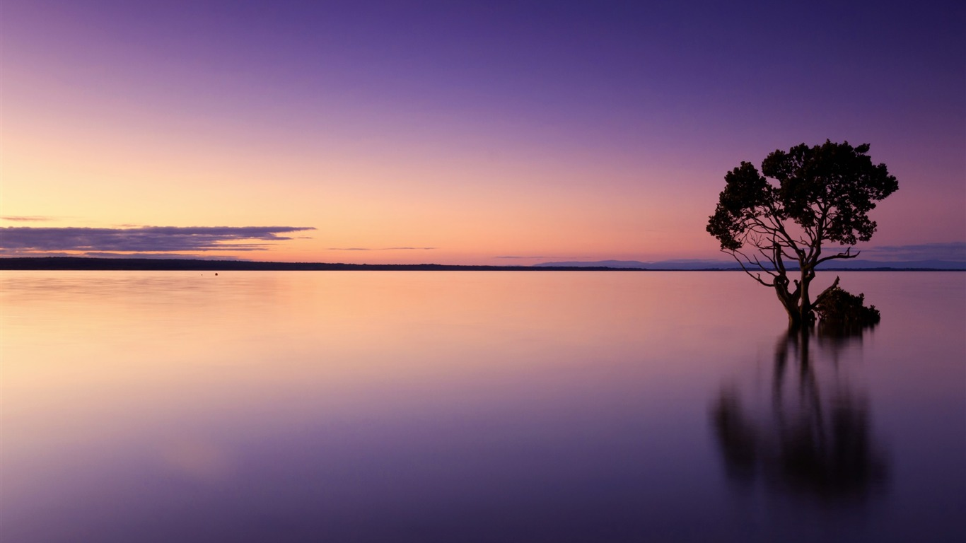 Calm_lakes_sunset-Nature_HD_Wallpapers
