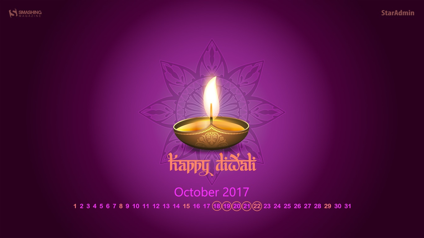 Happy_Diwali-October_2017_Calendar_Wallpaper