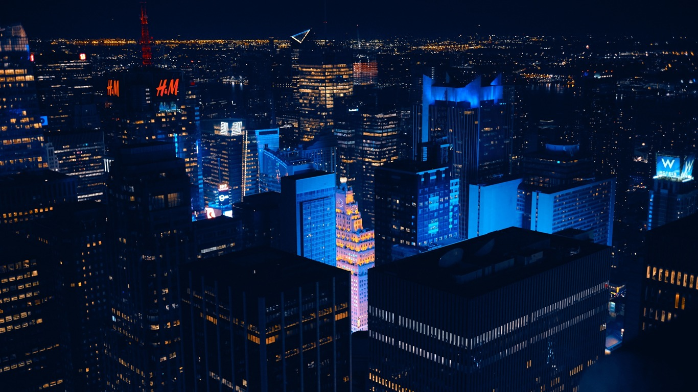 New_york_skyscrapers_night-Cities_HD_Wallpaper