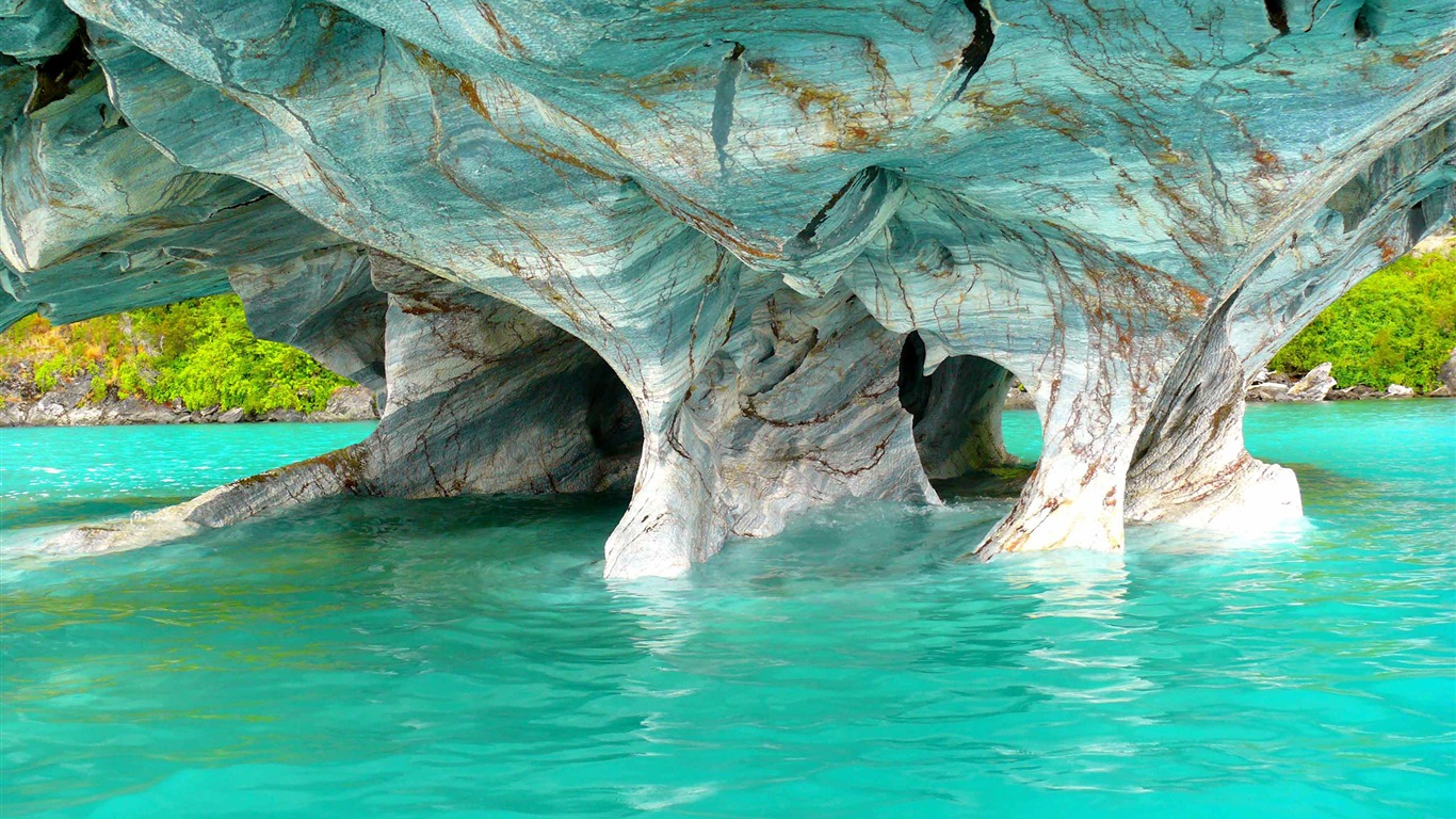 Chile_ocean_marble_caves_Photo_HD_Wallpaper