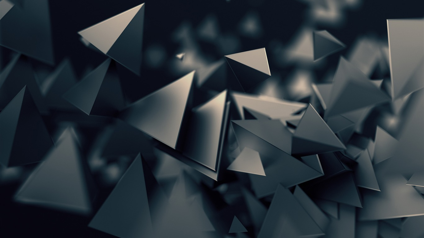 Dark_Gray_3D_Triangles_2017_Design_HD_Wallpaper