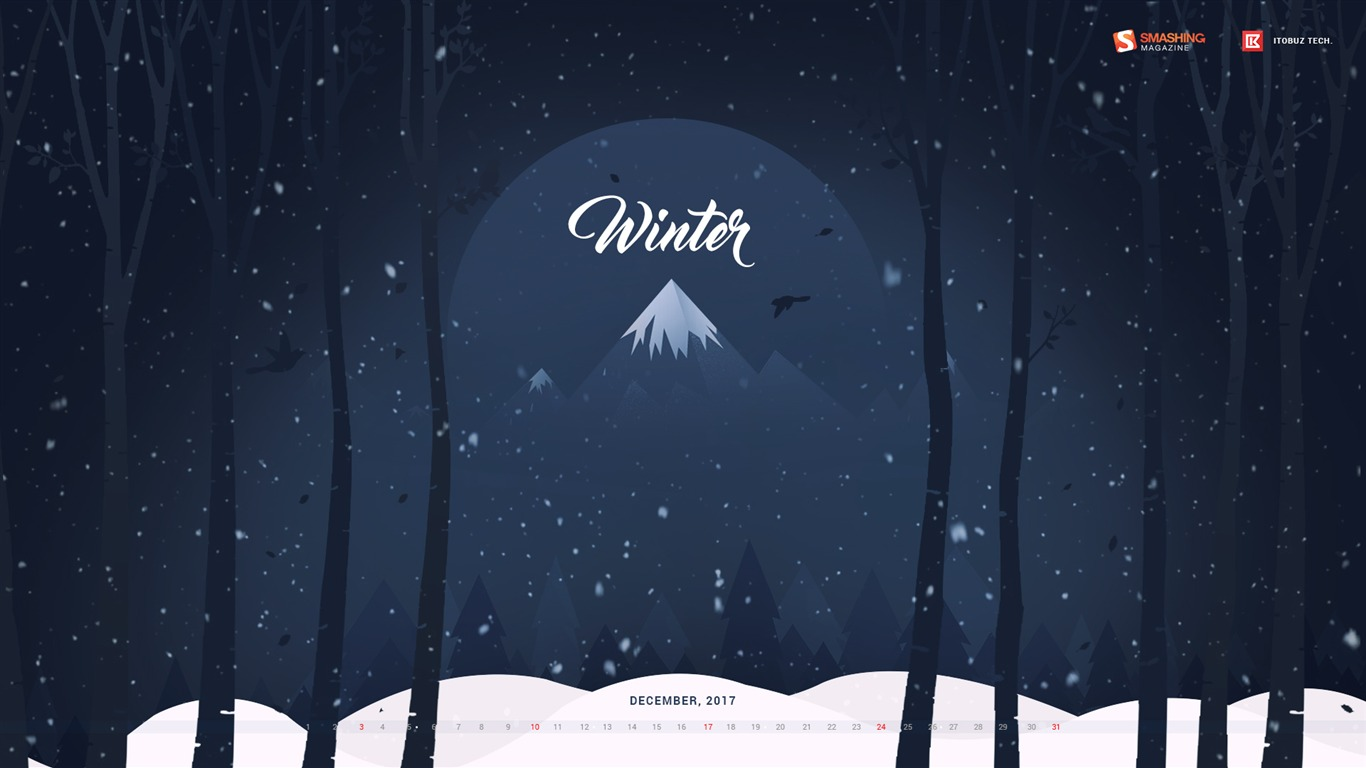 Winter_Jungle_December_2017_Calendar_Wallpaper