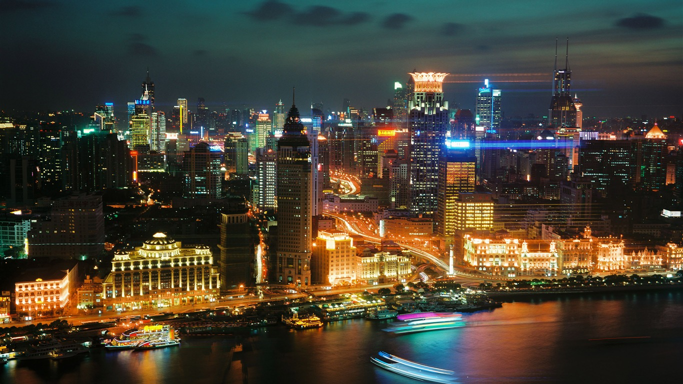 China_Shanghai_City_Night_Harbor_photography_4K_HD
