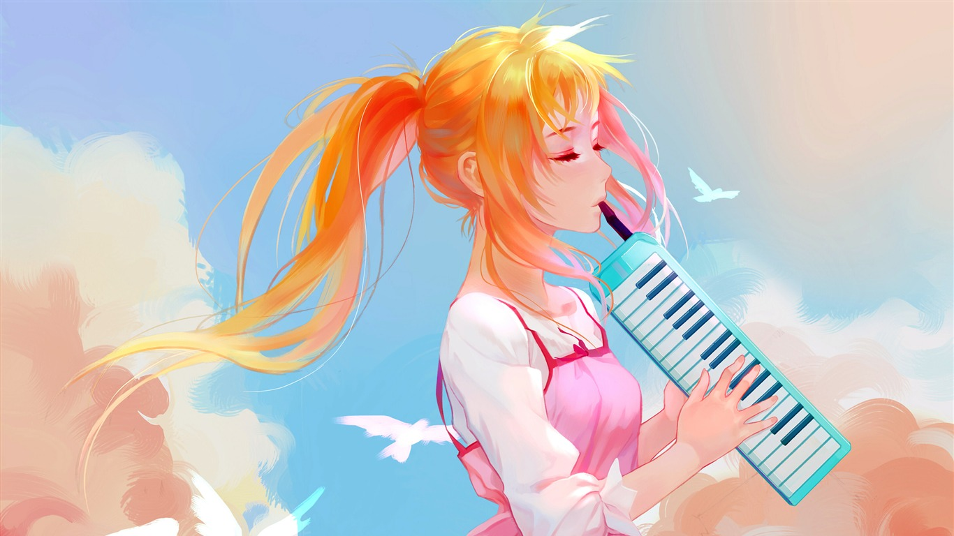 Cute_Girl_Electronic_piano_performance