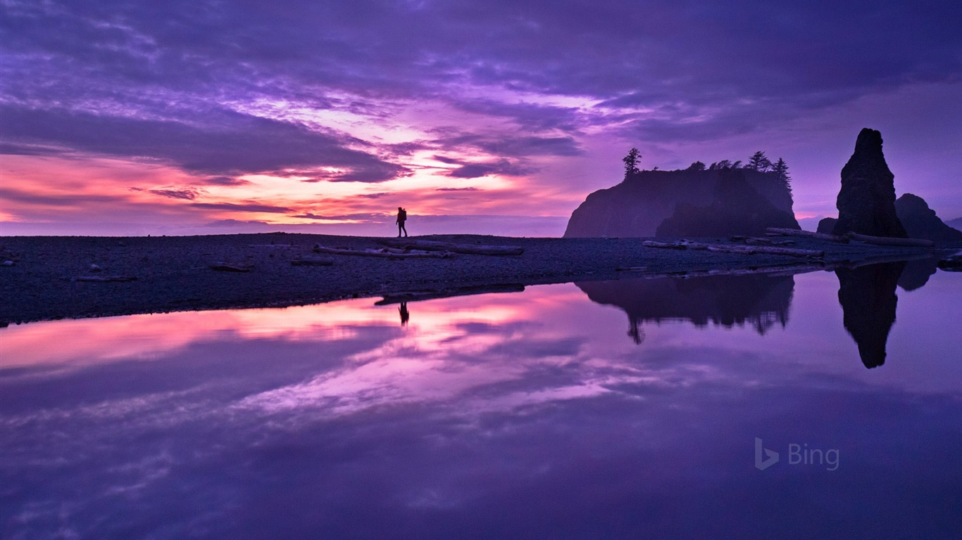 Washington Olympic National Park Ruby Beach 2018 Bing - 1366x768 wallpaper download