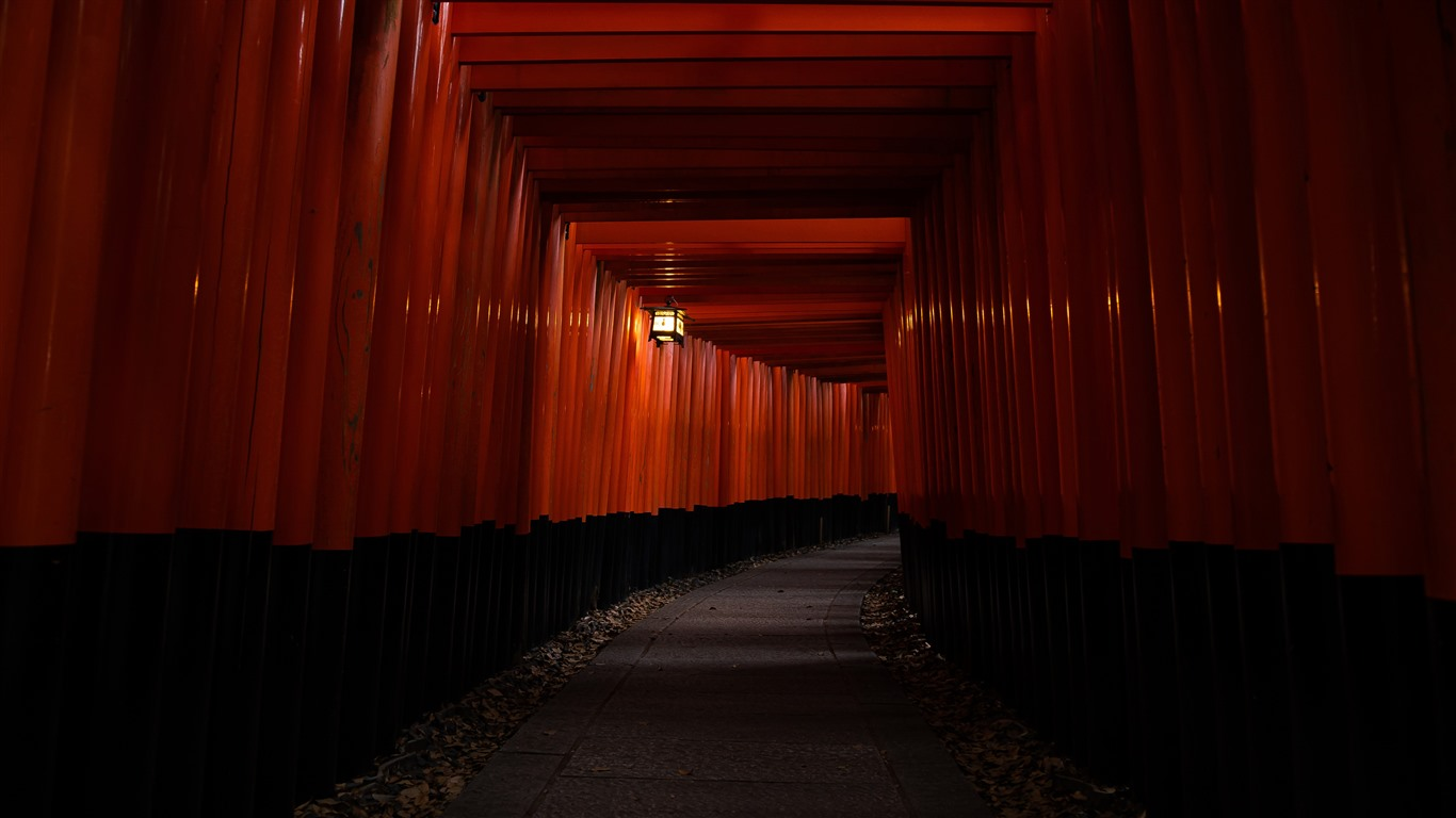 Japan_Kyoto_2021_Red_Passageway_5K_HD_Photo2021.3.27