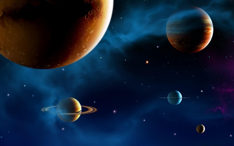 14 CG illustrator space planet universe-the universe stars ...