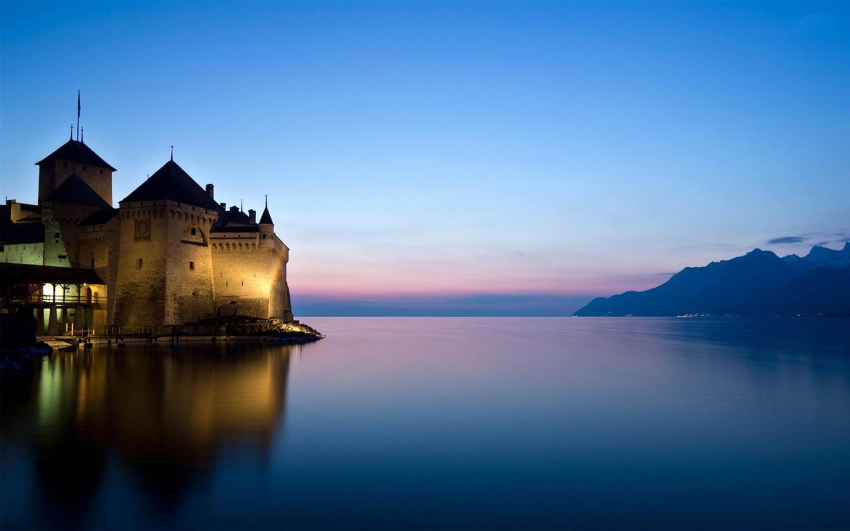 西庸城堡瑞士-世界风景高清摄影壁纸