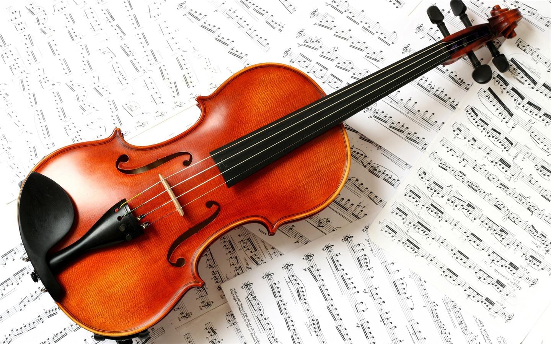 描述: 小提琴和音符-音乐高清壁纸 当前壁纸尺寸: 1440 x 900图片