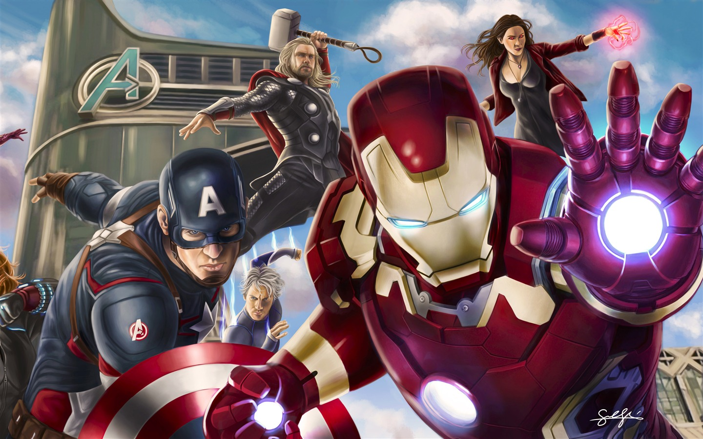 Avengers League Poster Artwork Design - 1440x900 wallpaper download