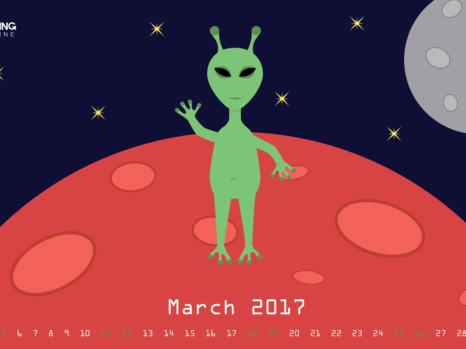 Life On Mars-March 2017 Calendar Wallpaper - 1600x1200 wallpaper download
