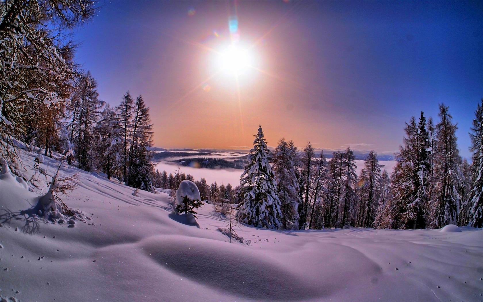 le plus beau paysage d 39 hiverv hd fond d 39 cran 1680x1050 t l chargement. Black Bedroom Furniture Sets. Home Design Ideas