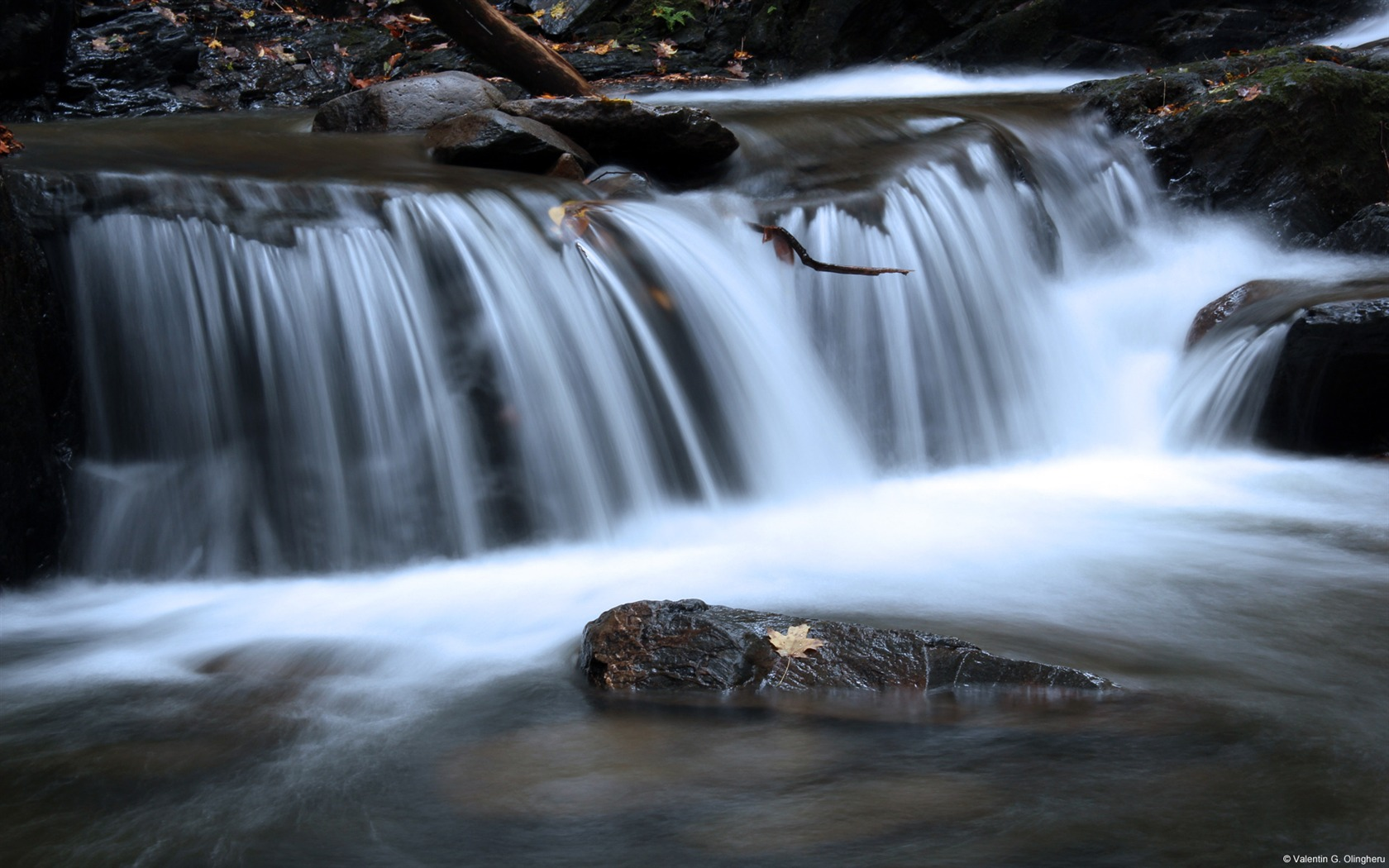 Spring Forest Waterfall Windows 10 Desktop Wallpaper