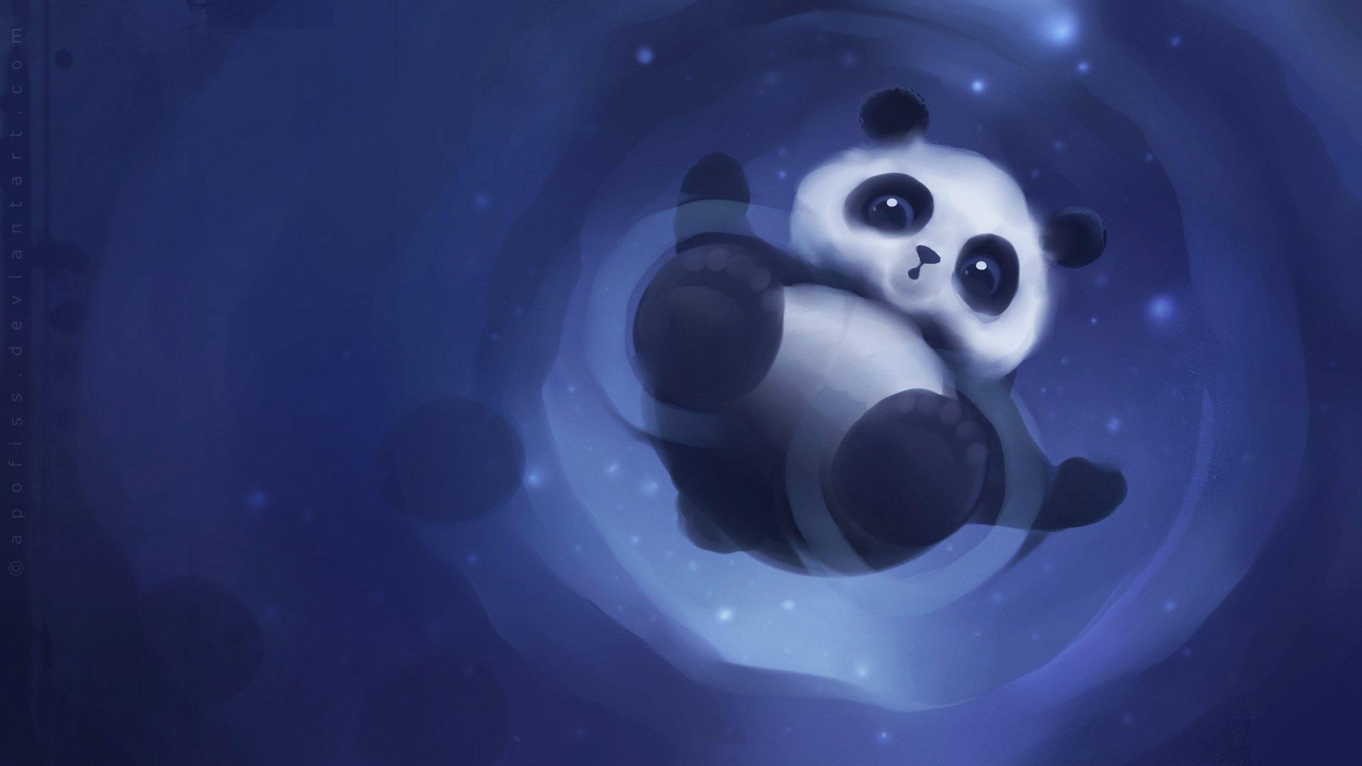 Panda Paper By Apofiss 1920x1080 Download 10wallpaper Com