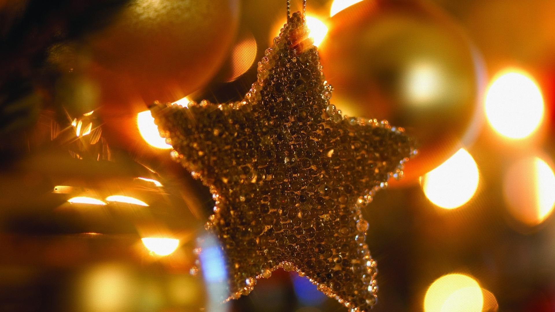 Christmas Star Christmas Tree Ornaments  1920x1080 Wallpaper Download