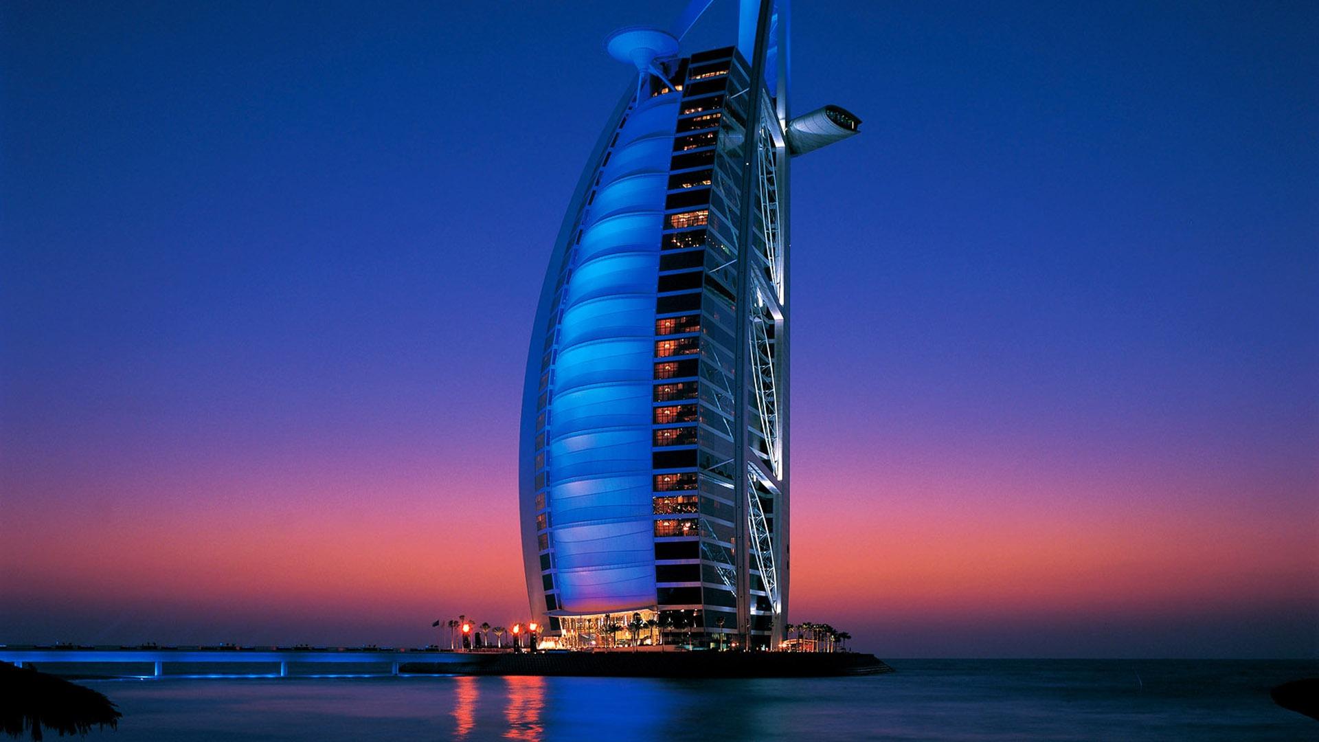 Burj Al Arab Hotel In Dubai At Night Preview 10wallpaper Com