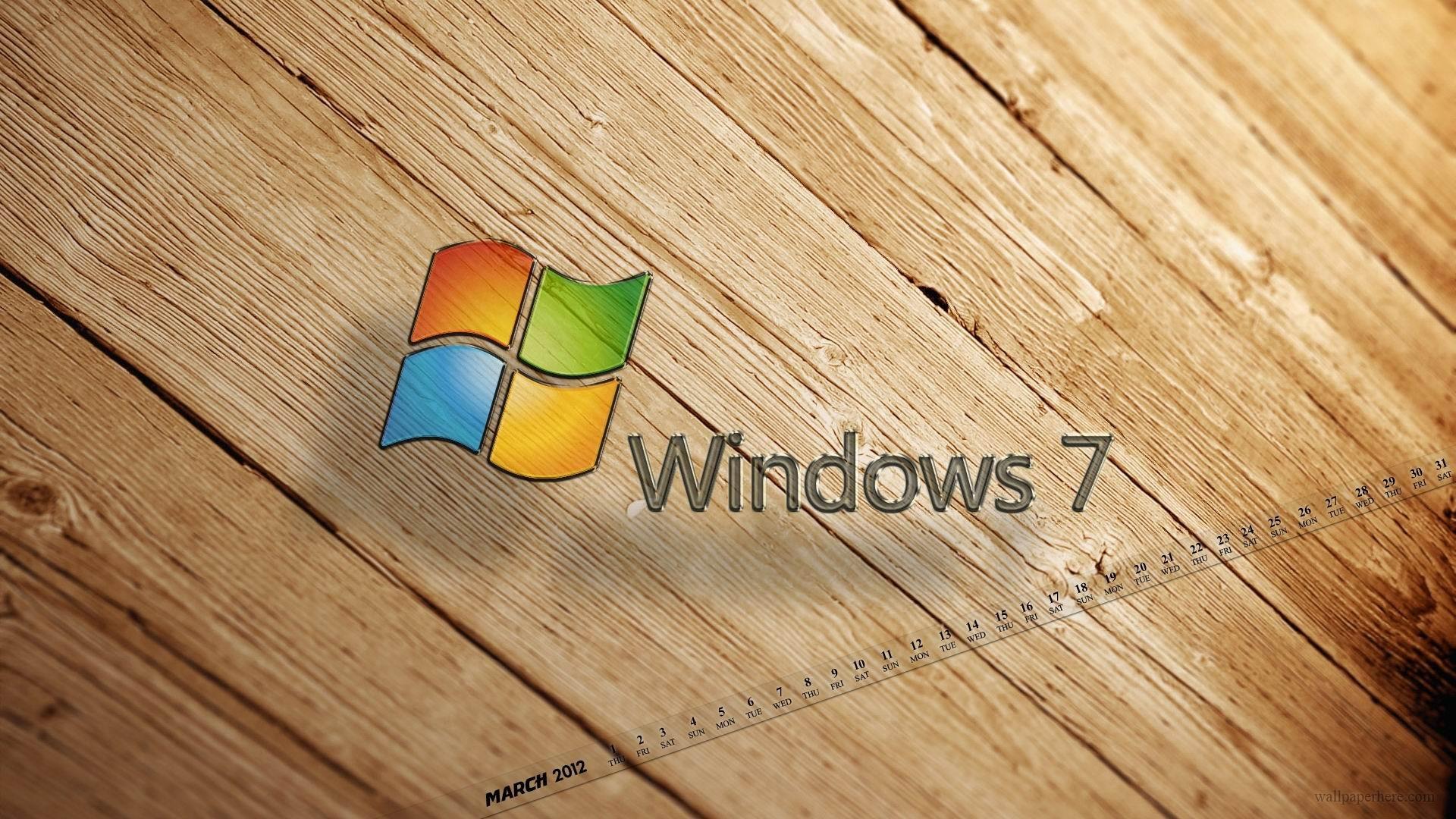 Windows 7-2012年3月カレンダーデスクトップテーマ壁紙 ...