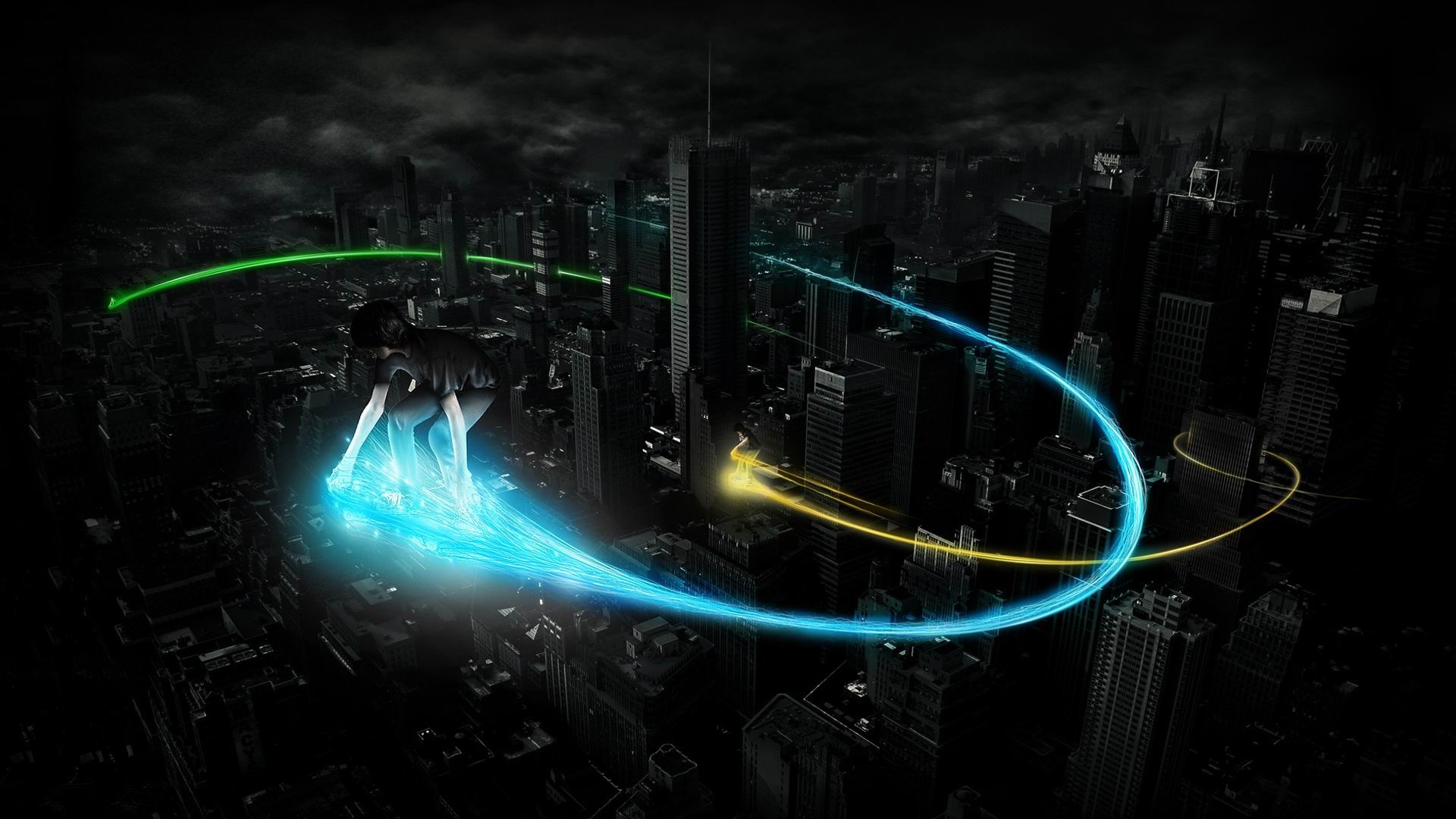 Skyboarding Creative Graphics Wallpaper 1920x1080 Wallpaper Download on 1206 html