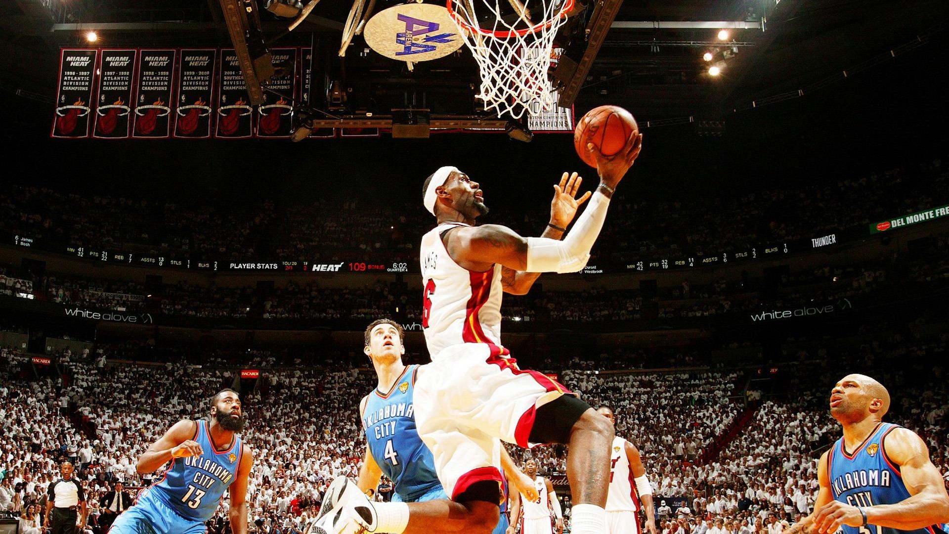 Top Free Dope Nba Backgrounds: LeBron James-NBA2011-12 Champion Heat Wallpaper-1920x1080