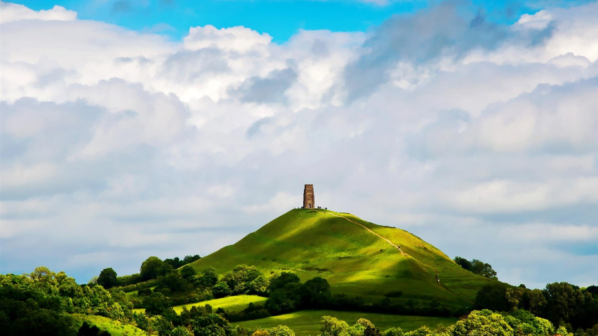 St Michaels Tower Glastonbury England Natural Scenery