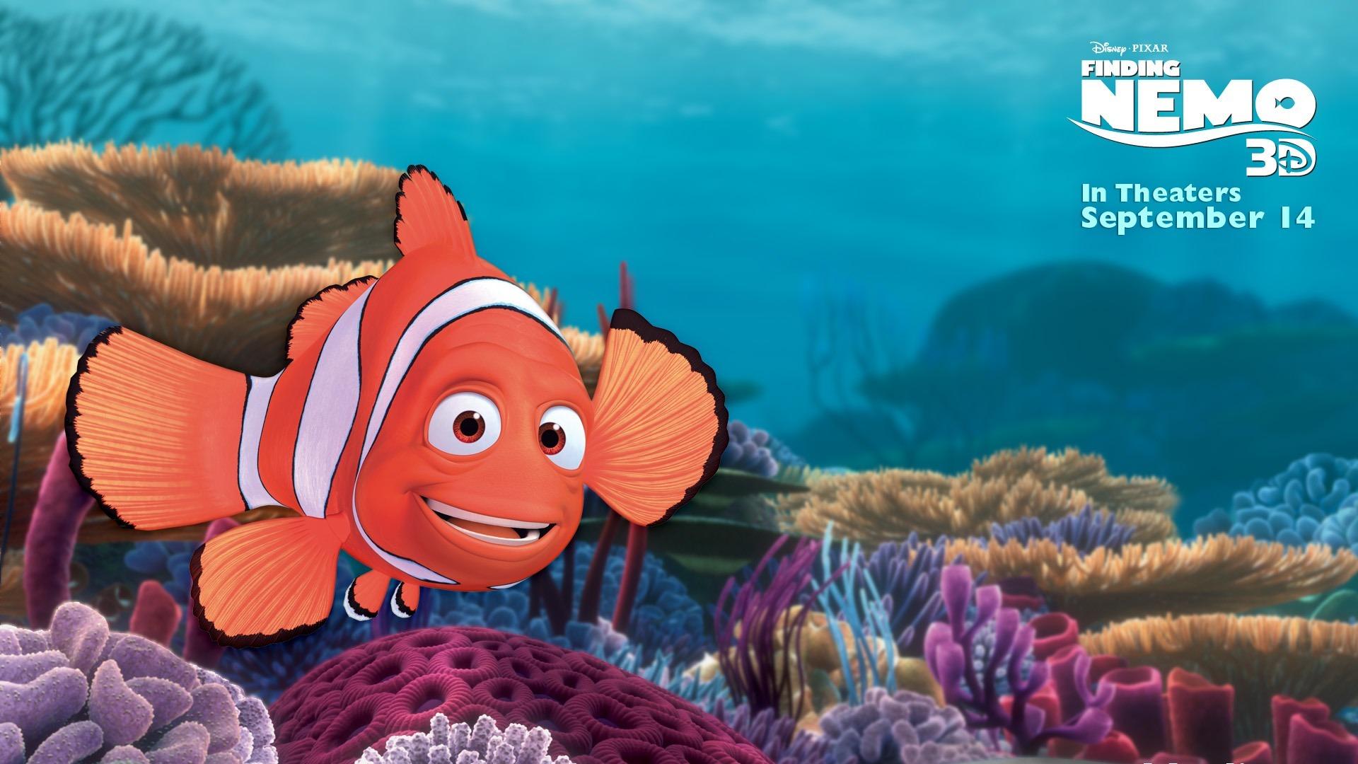 Finding Nemo D Animasi Hd Wallpaper: Marlin-Finding Nemo 3D 海底总动员 3D 2012电影HD桌面壁纸预览