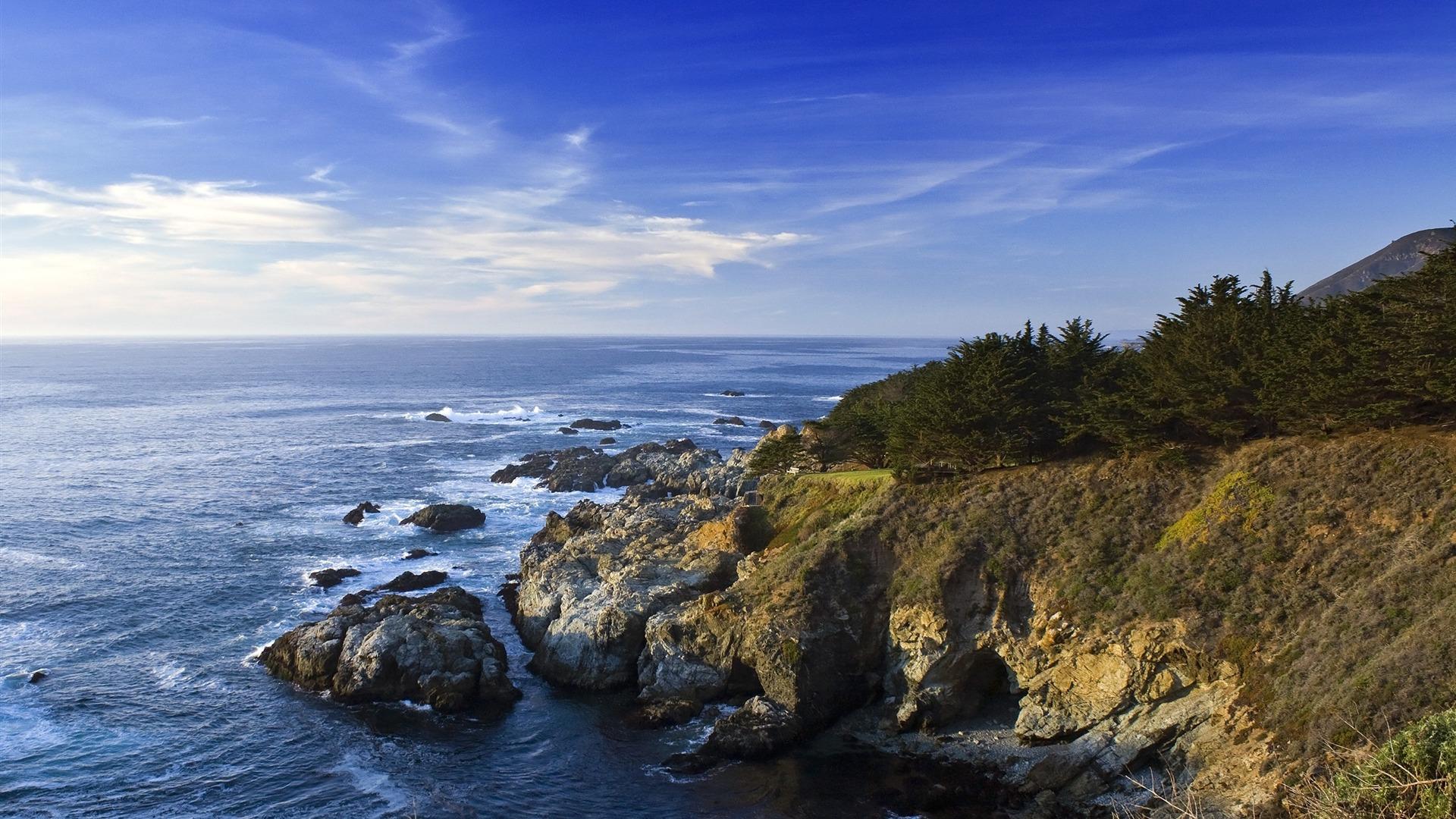 Pacific Ocean Big Sur California Beach 4k Hd Desktop: カリフォルニアの海岸-自然風景壁紙プレビュー