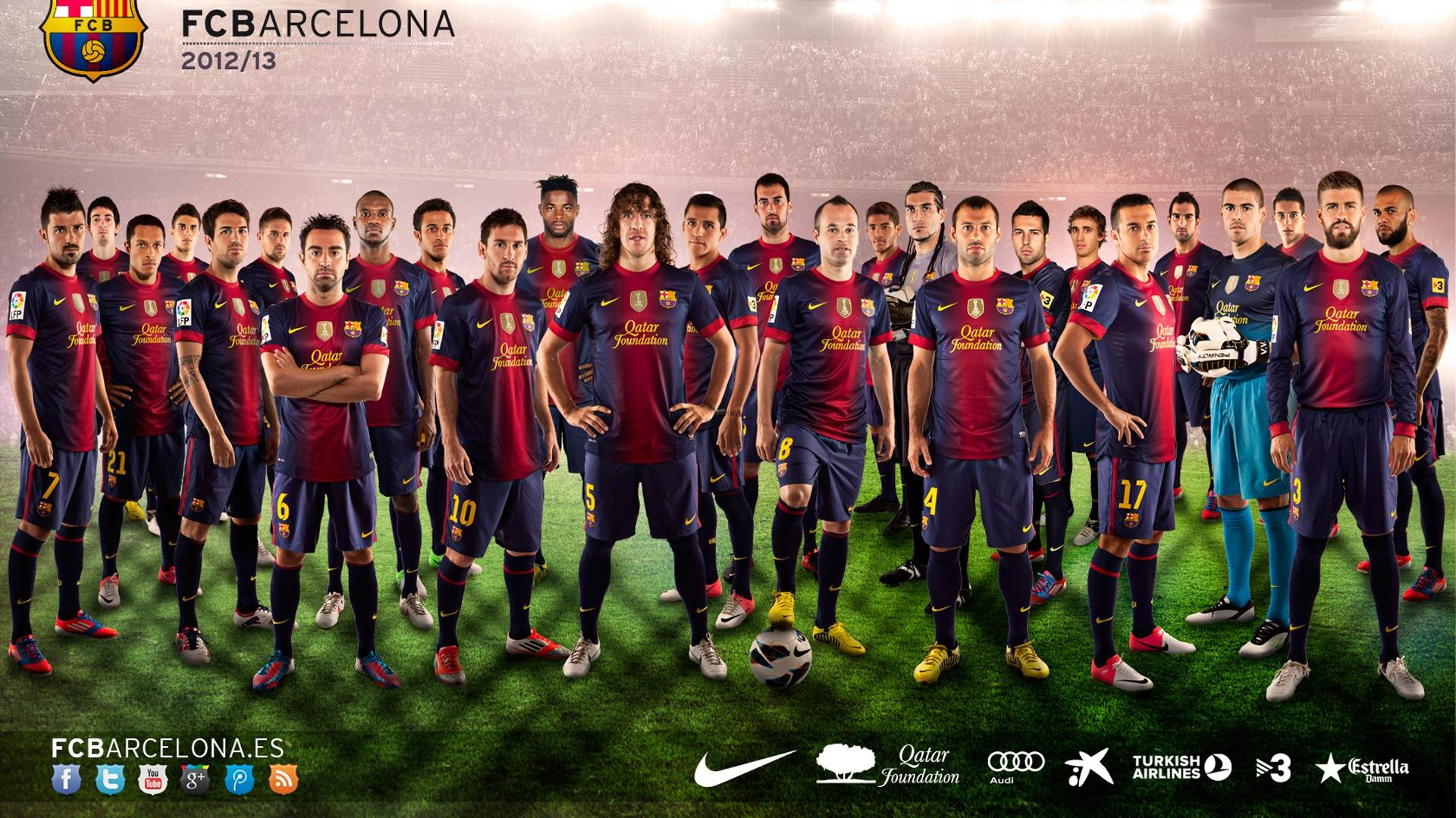 squad 2012-13-fc巴塞罗那俱乐部高清壁纸
