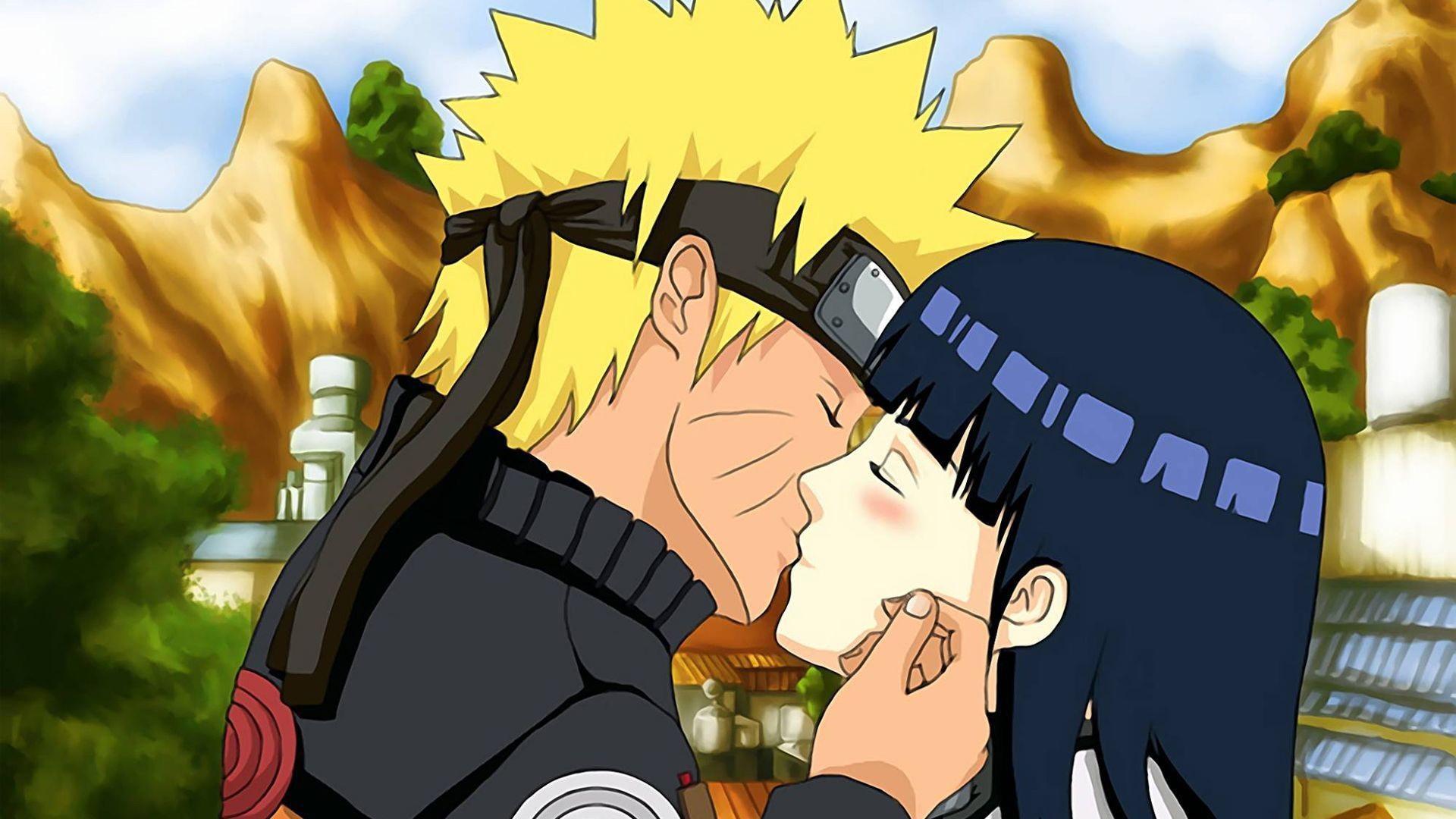 火影忍者和雏田接吻-动漫人物壁纸图片