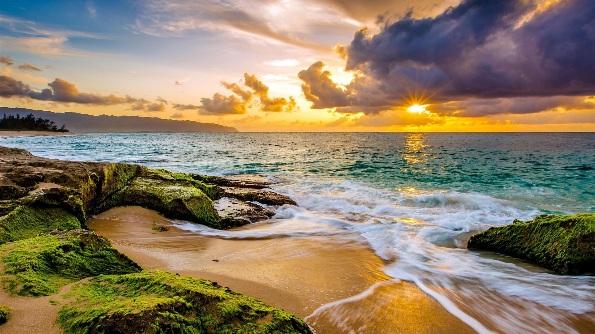Hawaii Island Travel Coast Beach Sunset Preview ...