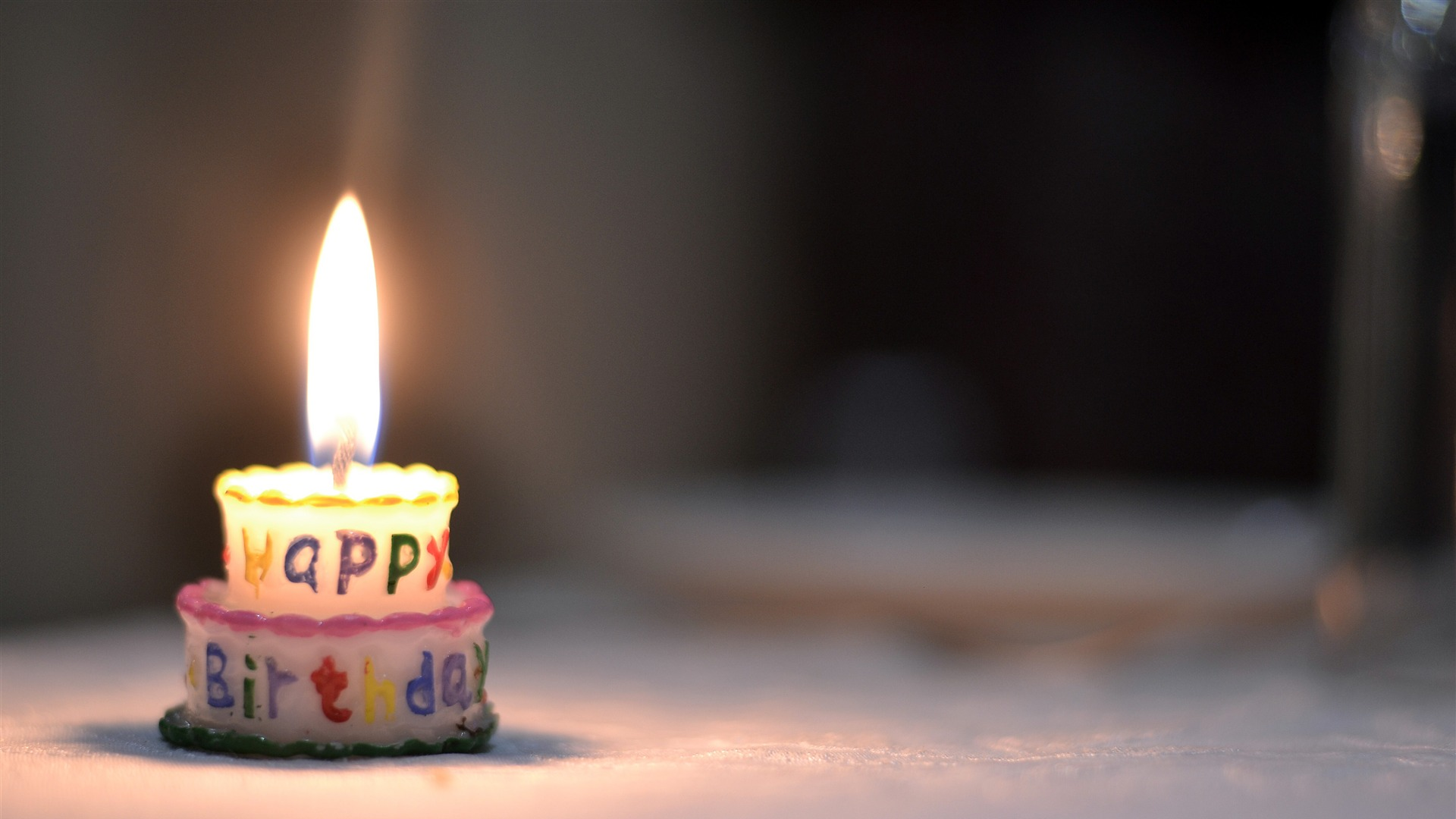 Happy Birthday Cake Candle Flame Preview 10wallpaper Com