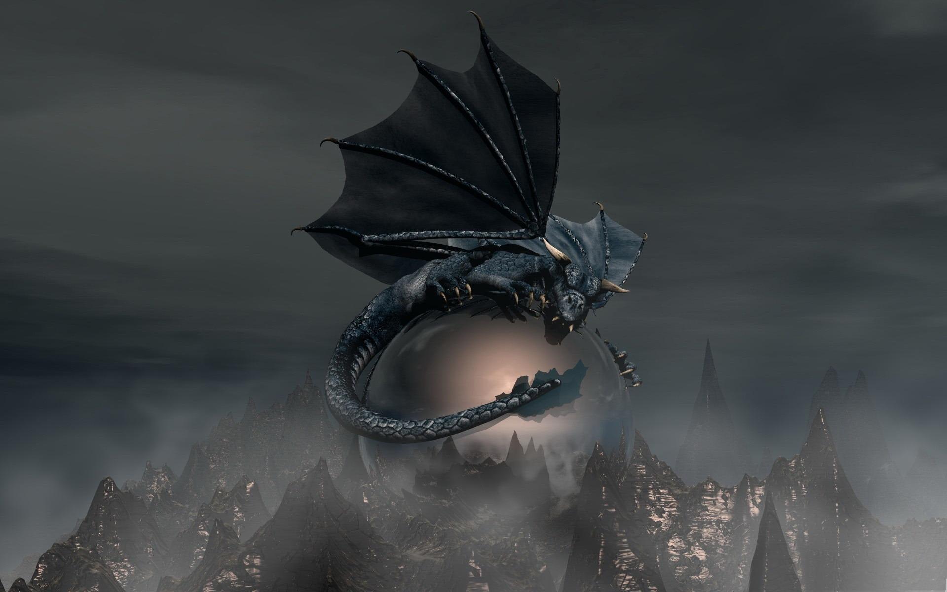 Hd wallpaper animal - Dragon Noir Dragon Art Wallpaper Design 1920x1200 Fond D
