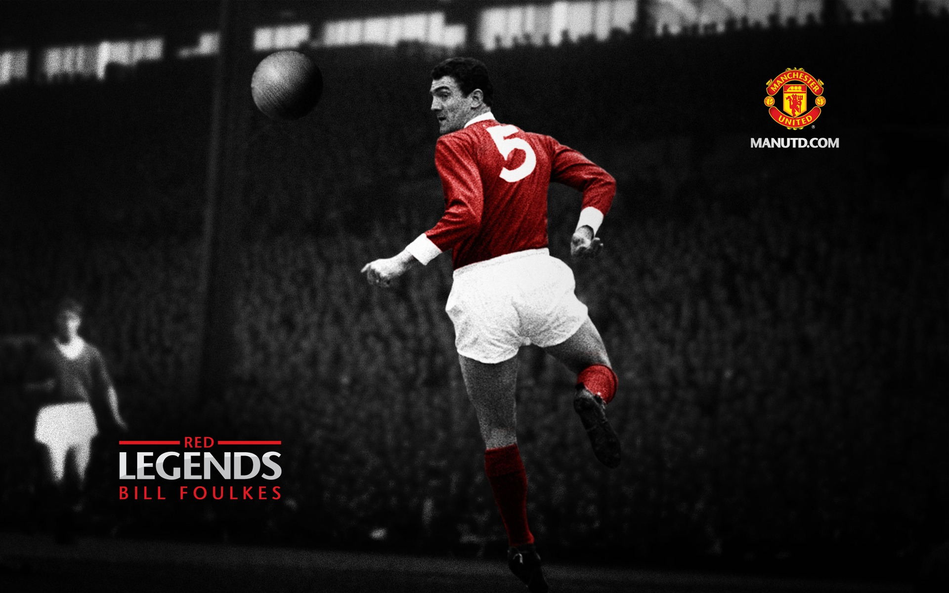 Bill Foulkes Red Legends Manchester United Wallpaper