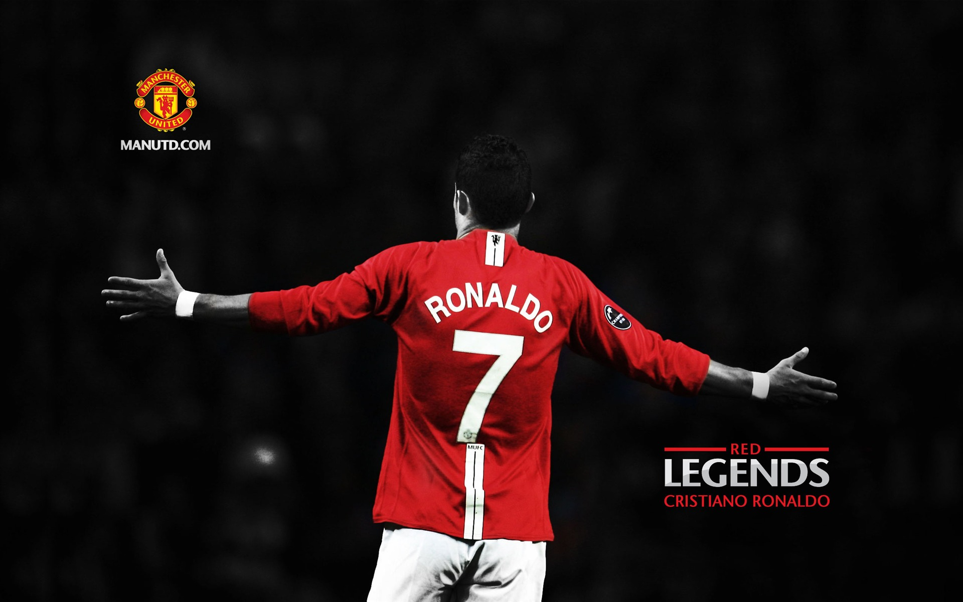 Cristiano Ronaldo-Red Legends-Manchester United wallpaper - 1920x1200 ...
