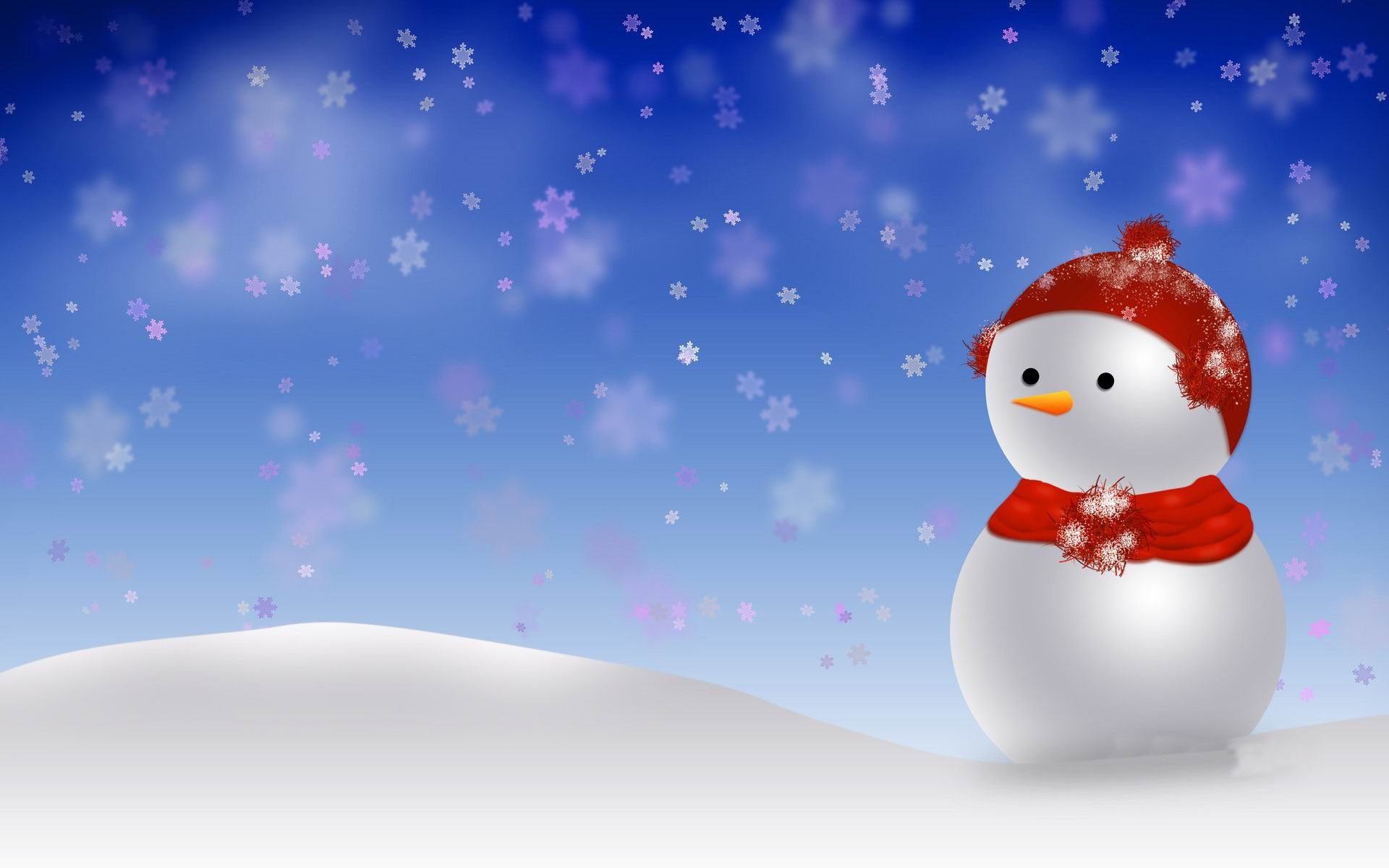 Aesthetic Cute Snowman Christmas HD Computer Wallpaper 10 View