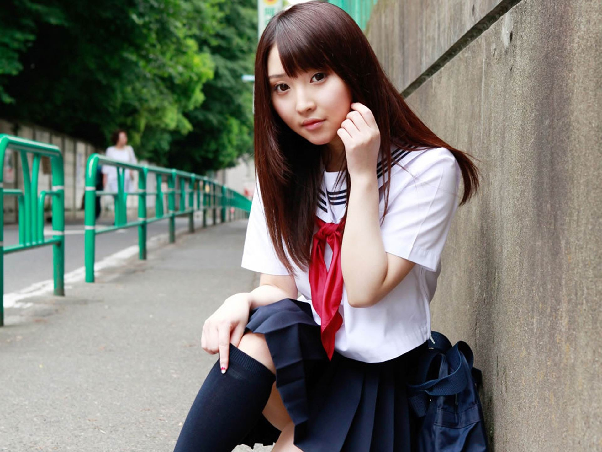 Pure japanese school girl with the beat on the streets wallpaper 11 preview - Asian schoolgirl wallpaper ...