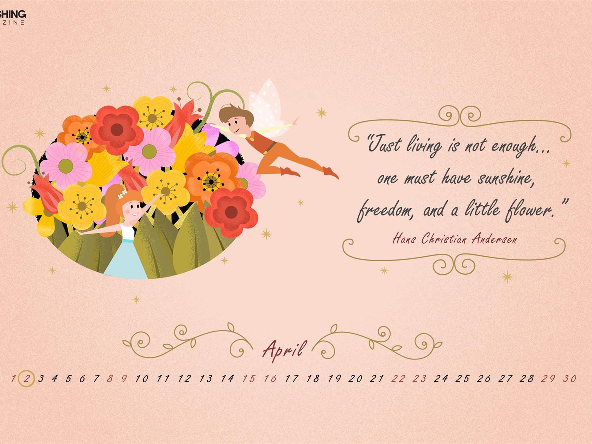 Happy Birthday Hans April 2017 Calendar Wallpaper Preview