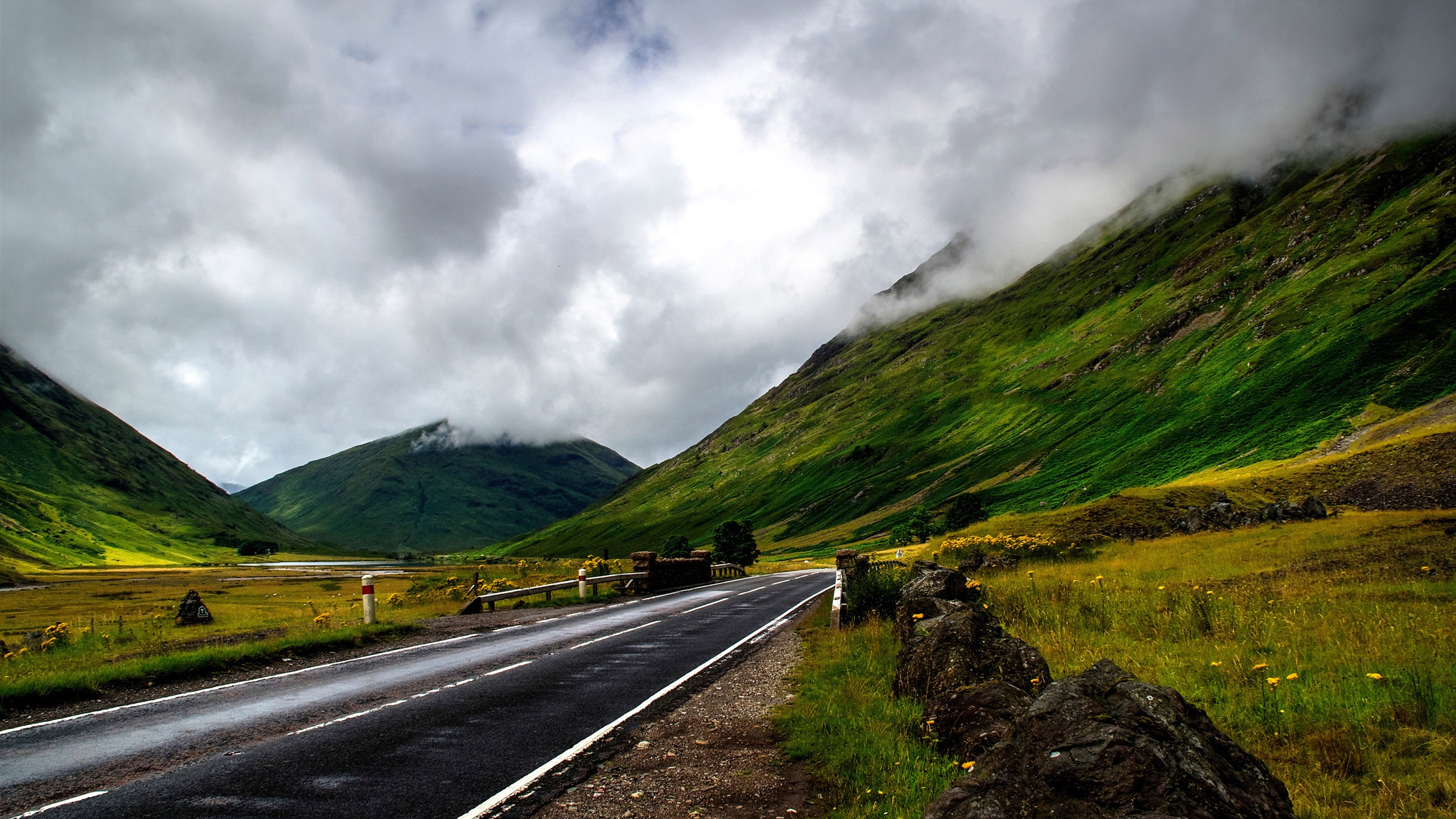 Travel landscape mountain cloud sky road - 2560x1440 wallpaper download