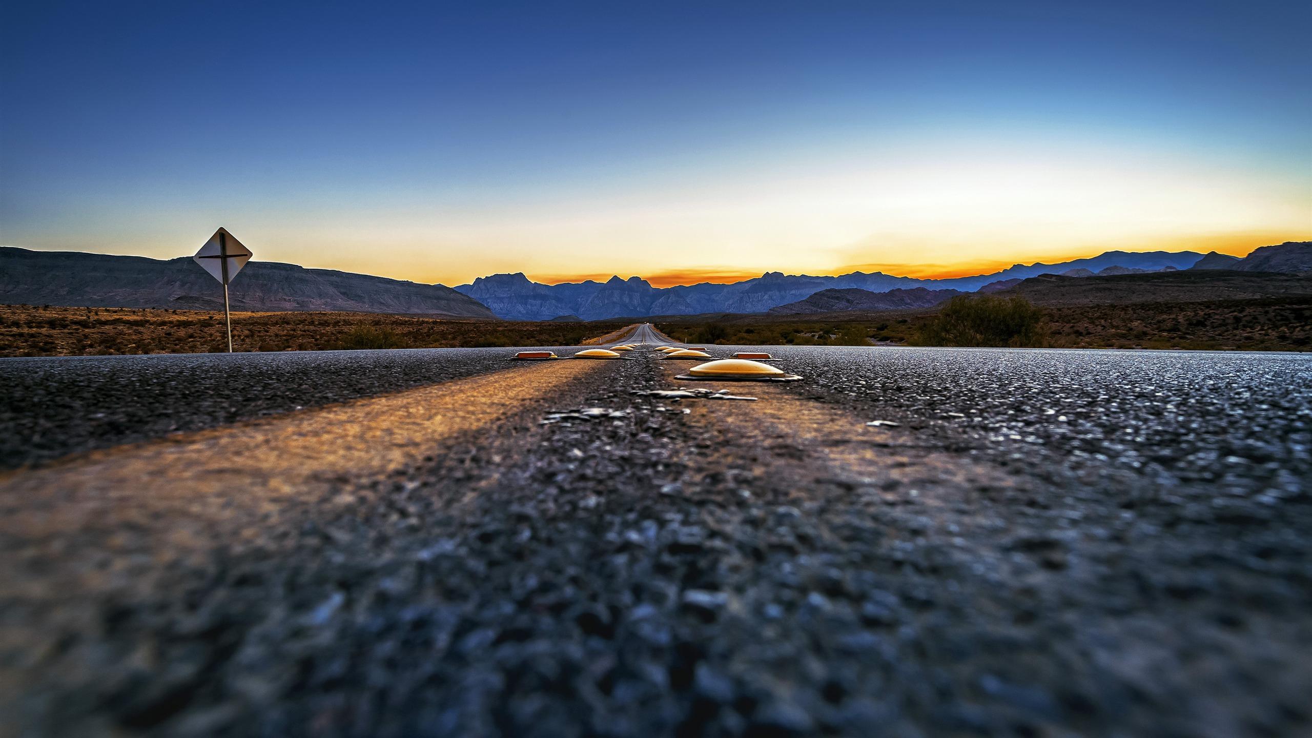 空岛_美国66号公路,黄昏,风景,特写镜头预览 | 10wallpaper.com