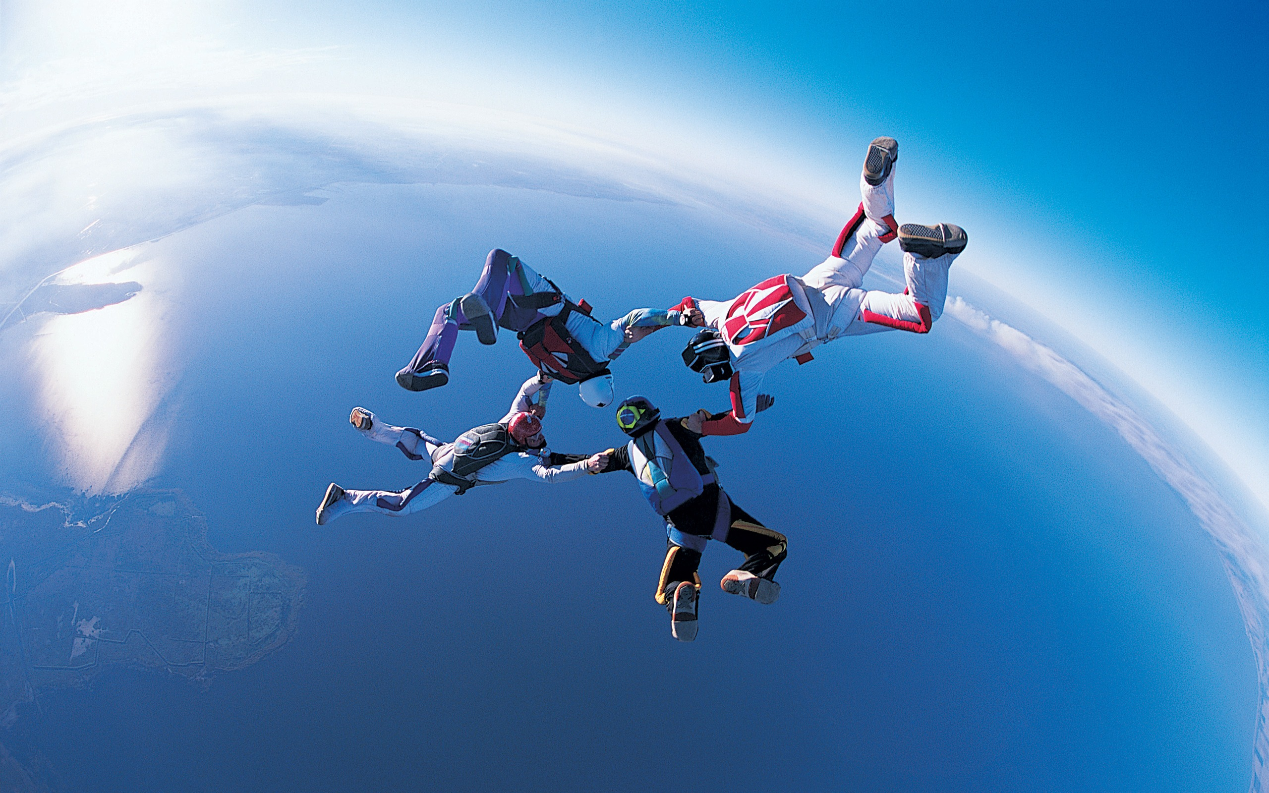 Sport Wallpaper Life: High-altitude Parachute Style-Life Is The Challenge
