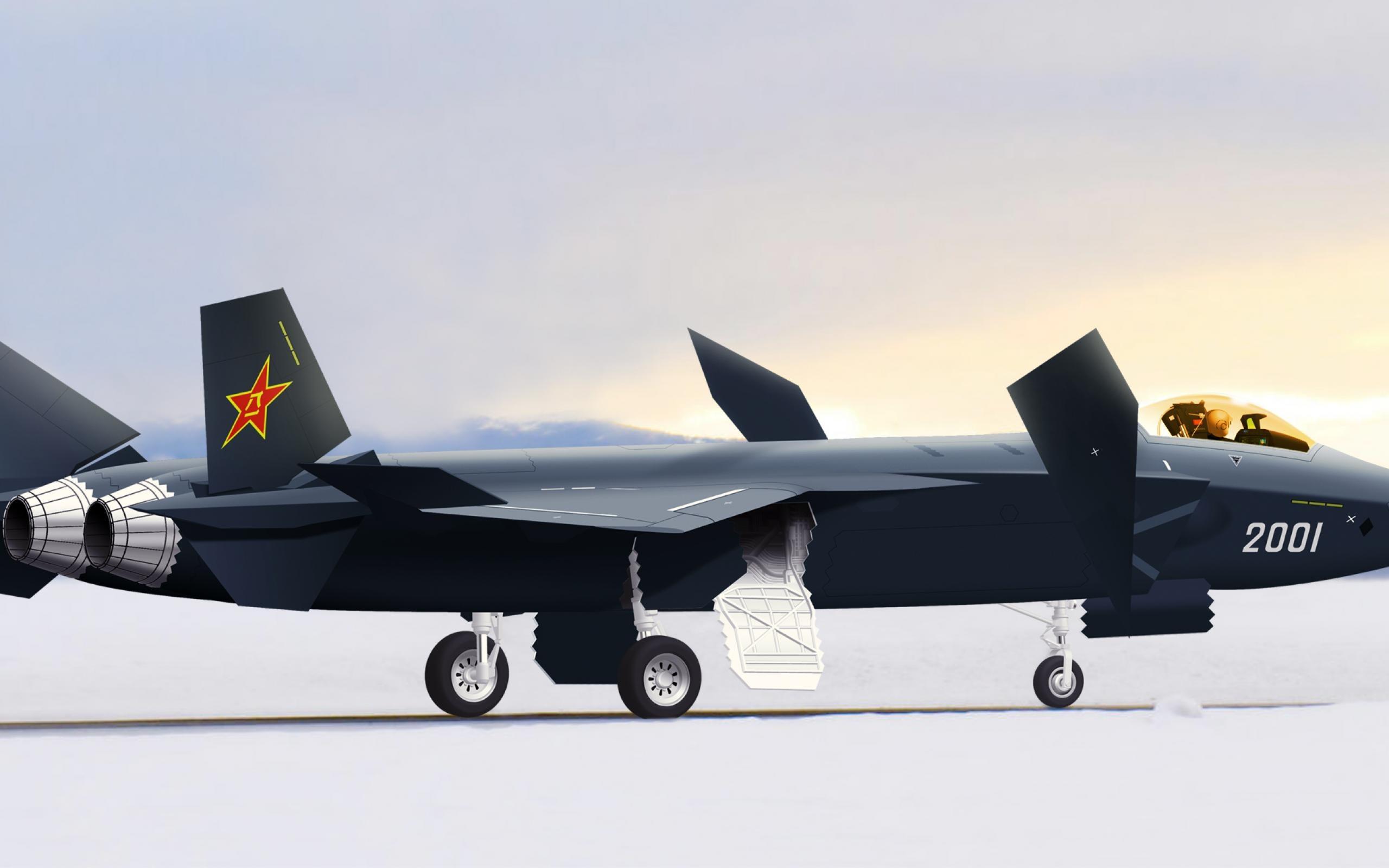 中国j20的隐形战斗机-军用飞机壁纸