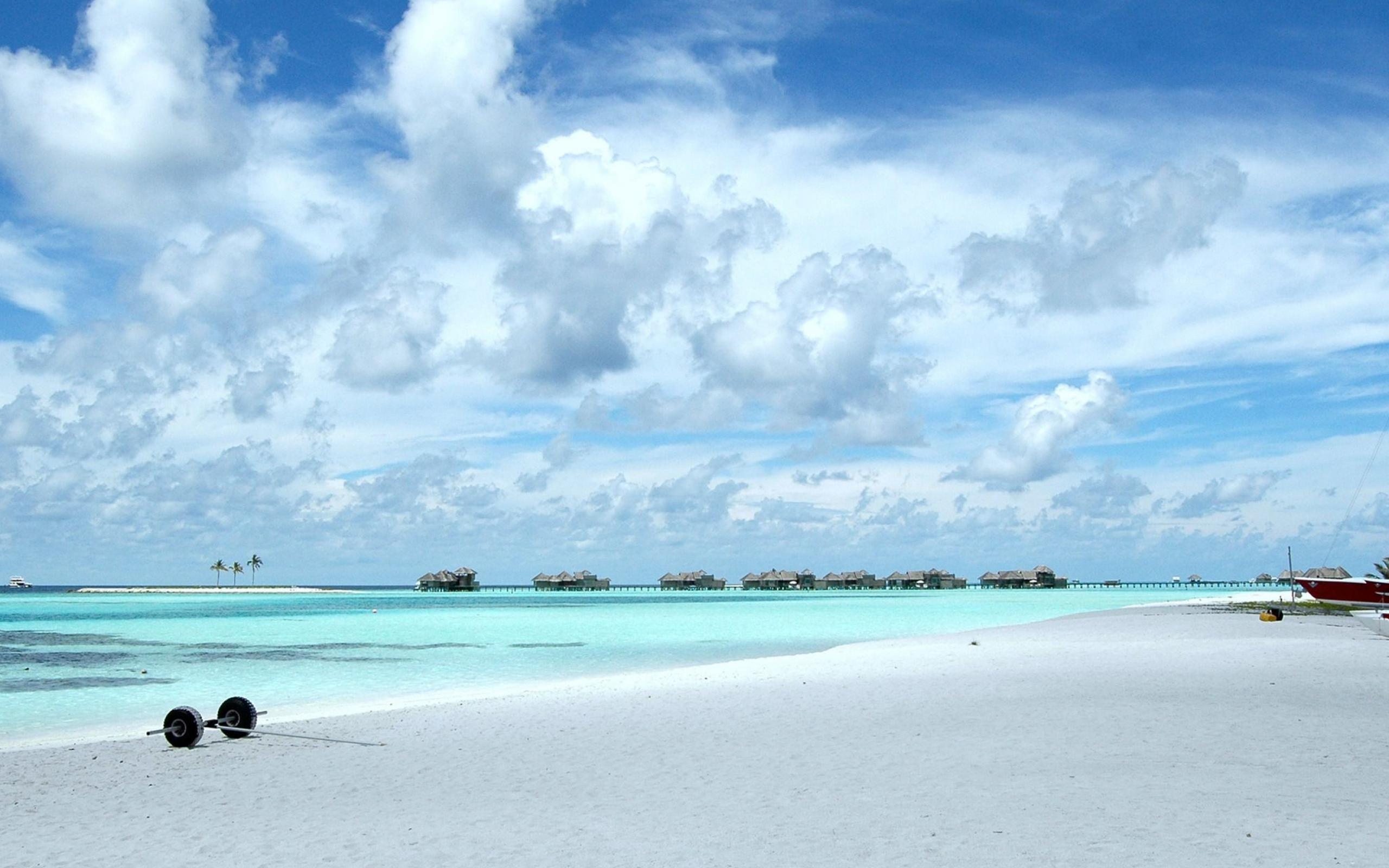 马尔代夫海滩-自然风景高清壁纸