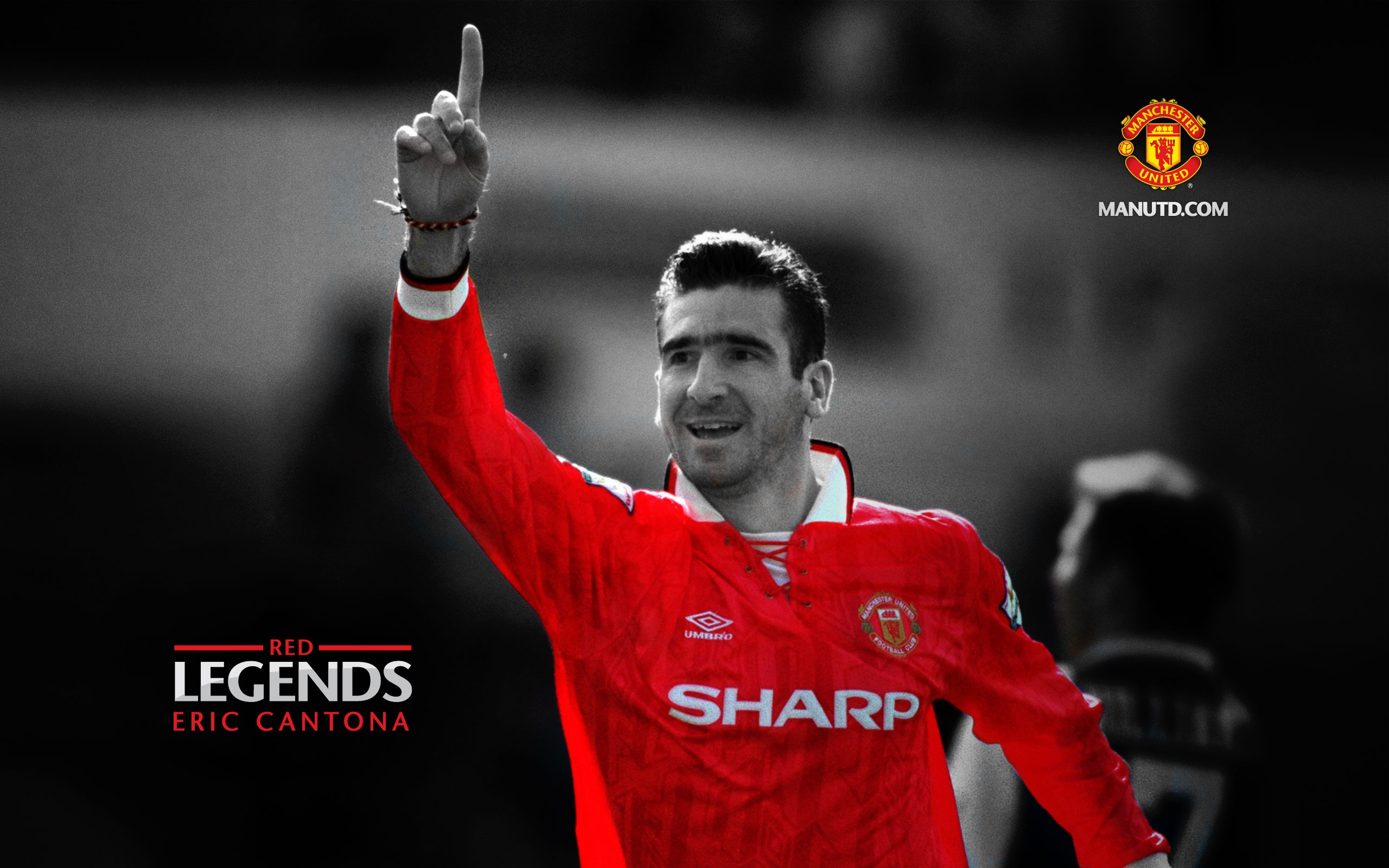Eric Cantona Red Legends Manchester United Wallpaper