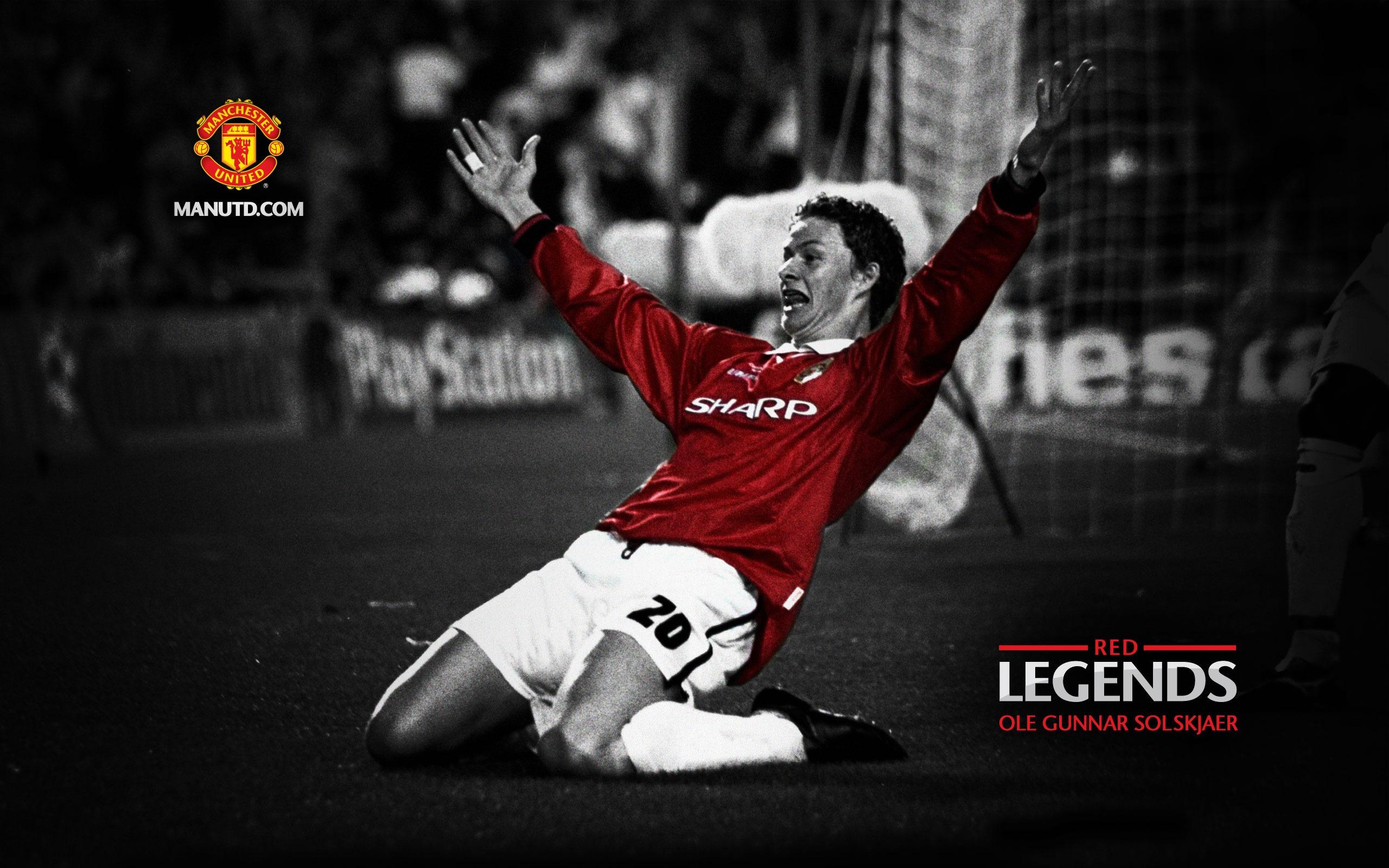 Ole Gunnar Solskjaer-Red Legends-Manchester United wallpaper Preview   10wallpaper.com
