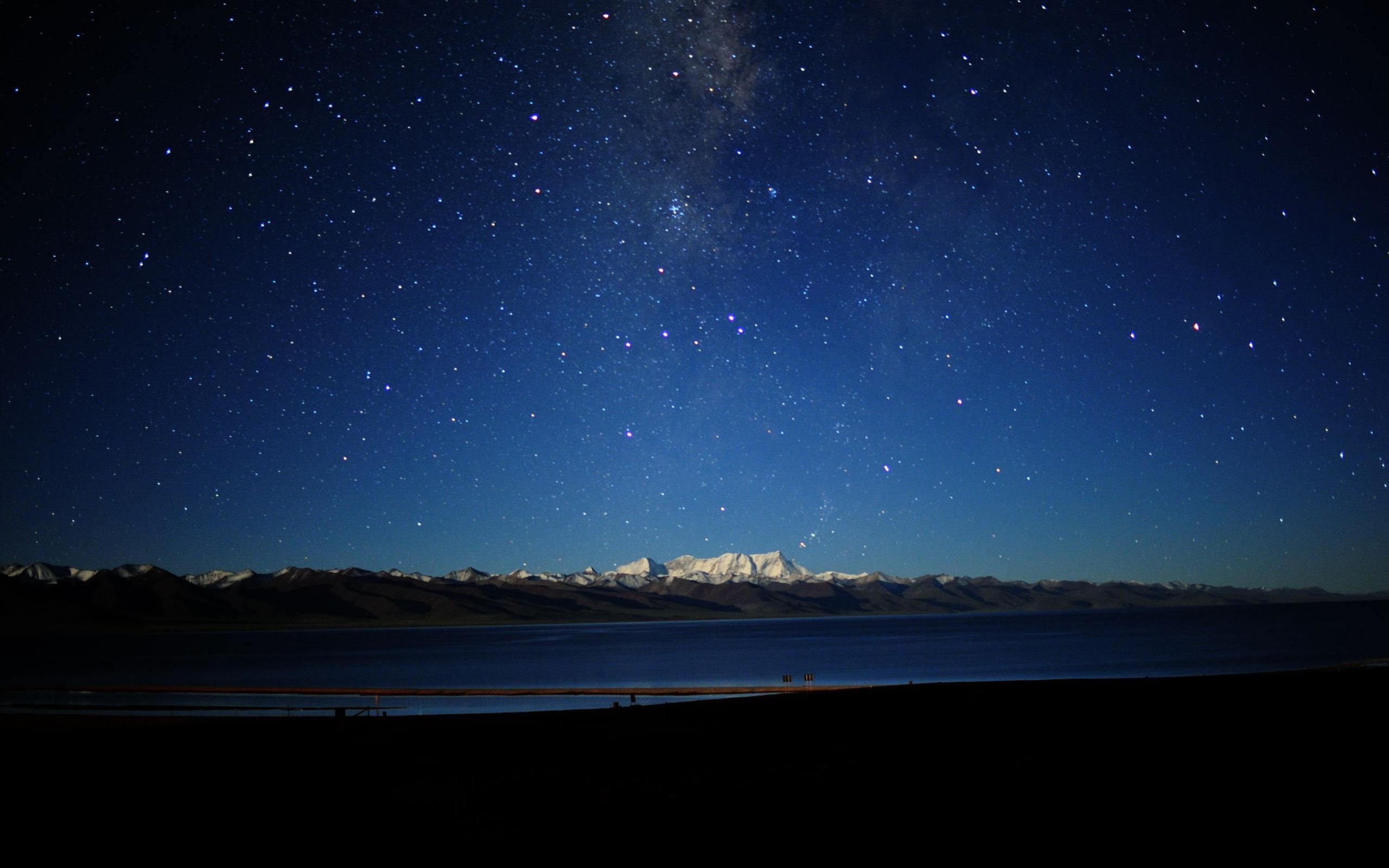 The Night Sky In Tibet Natural Scenery Wallpaper Preview 10wallpaper Com