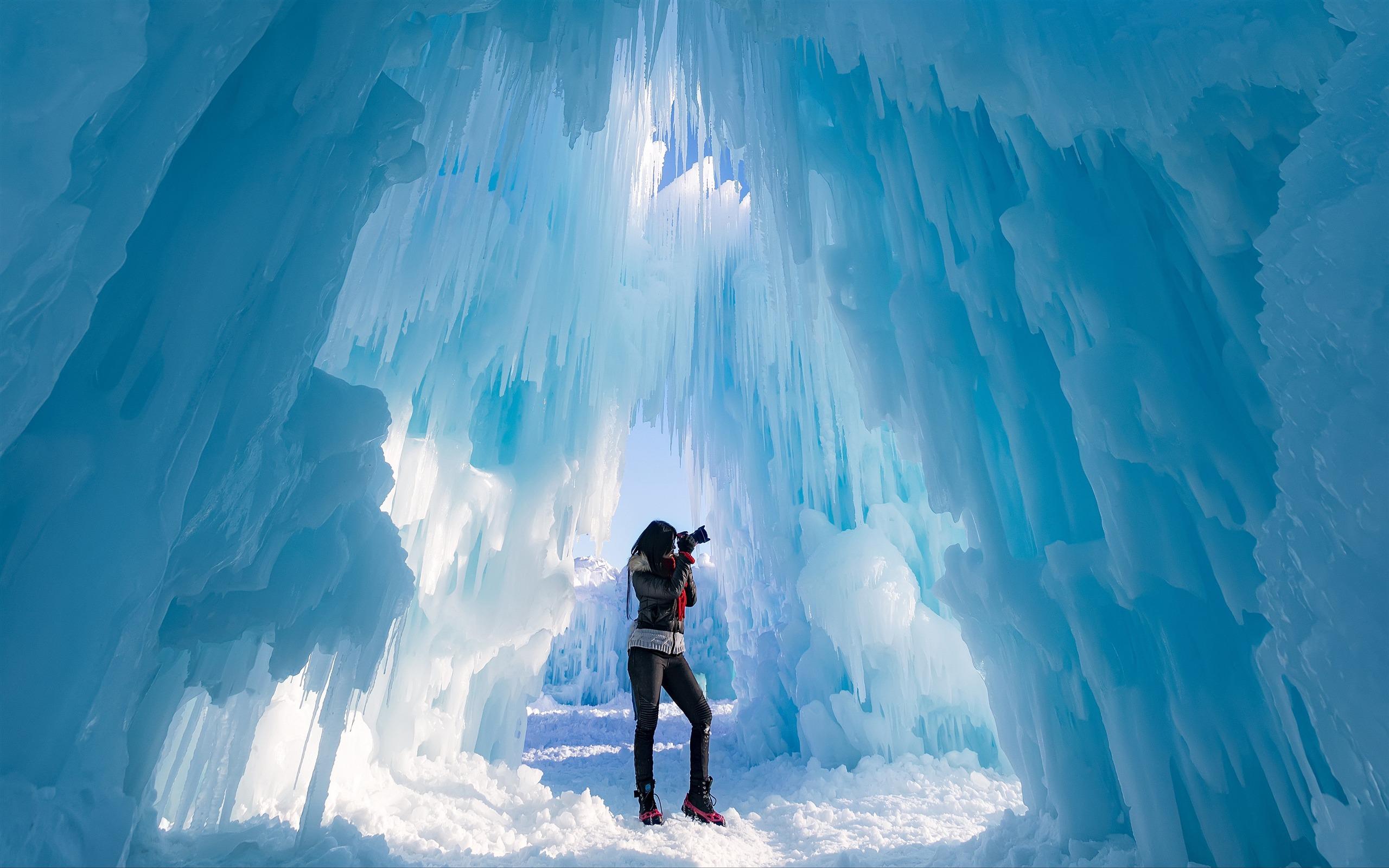 颁奖_蓝色,冰川,冰城堡,摄影师预览 | 10wallpaper.com